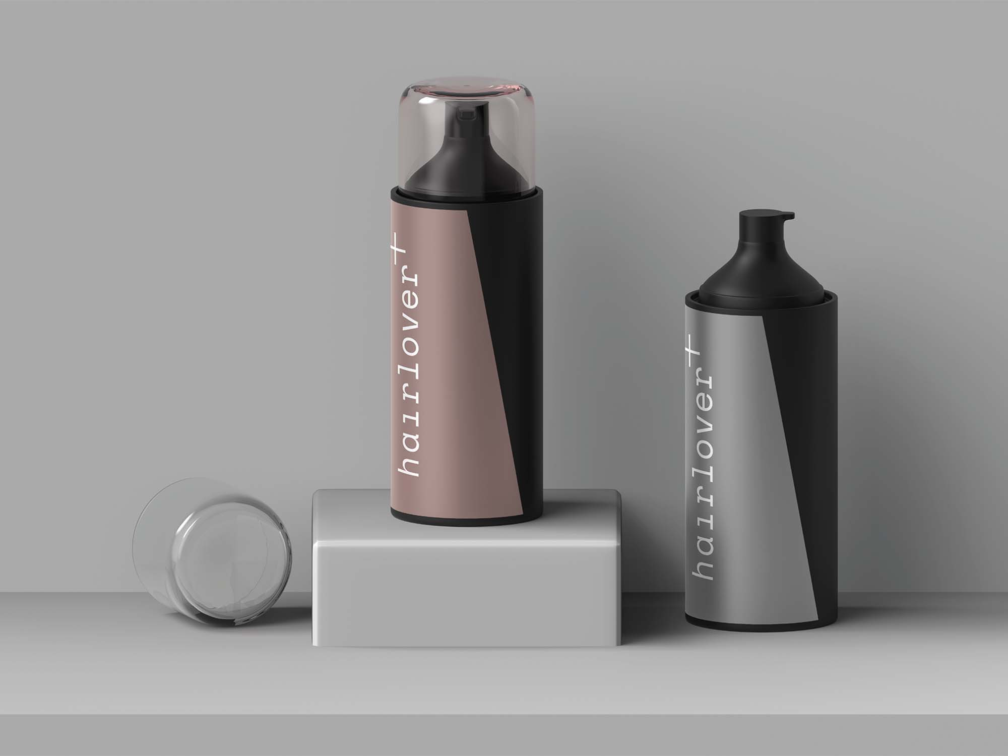 Hair Lover Bottle Mockup 2