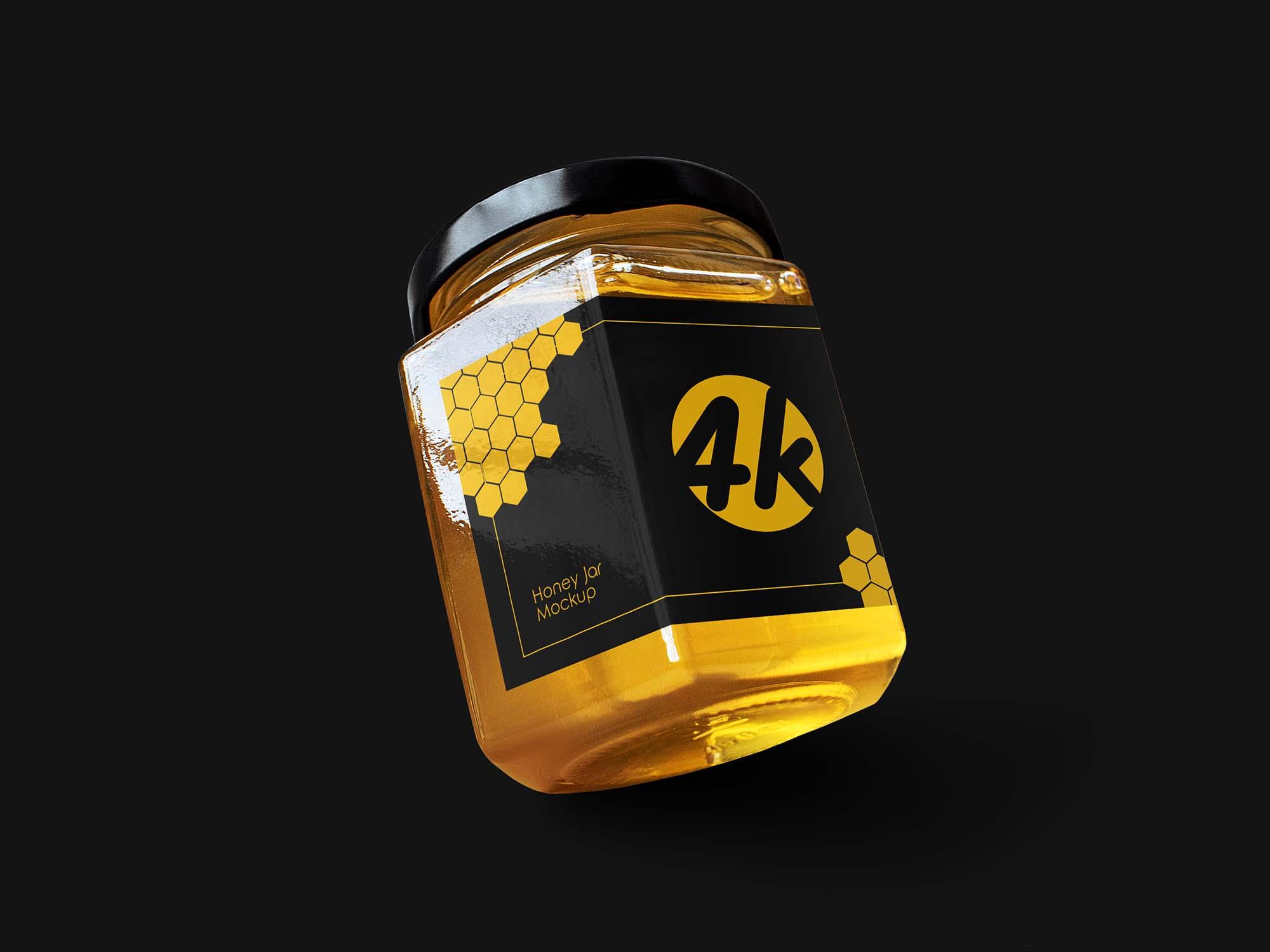 Hexagon Honey Jar Mockup 2