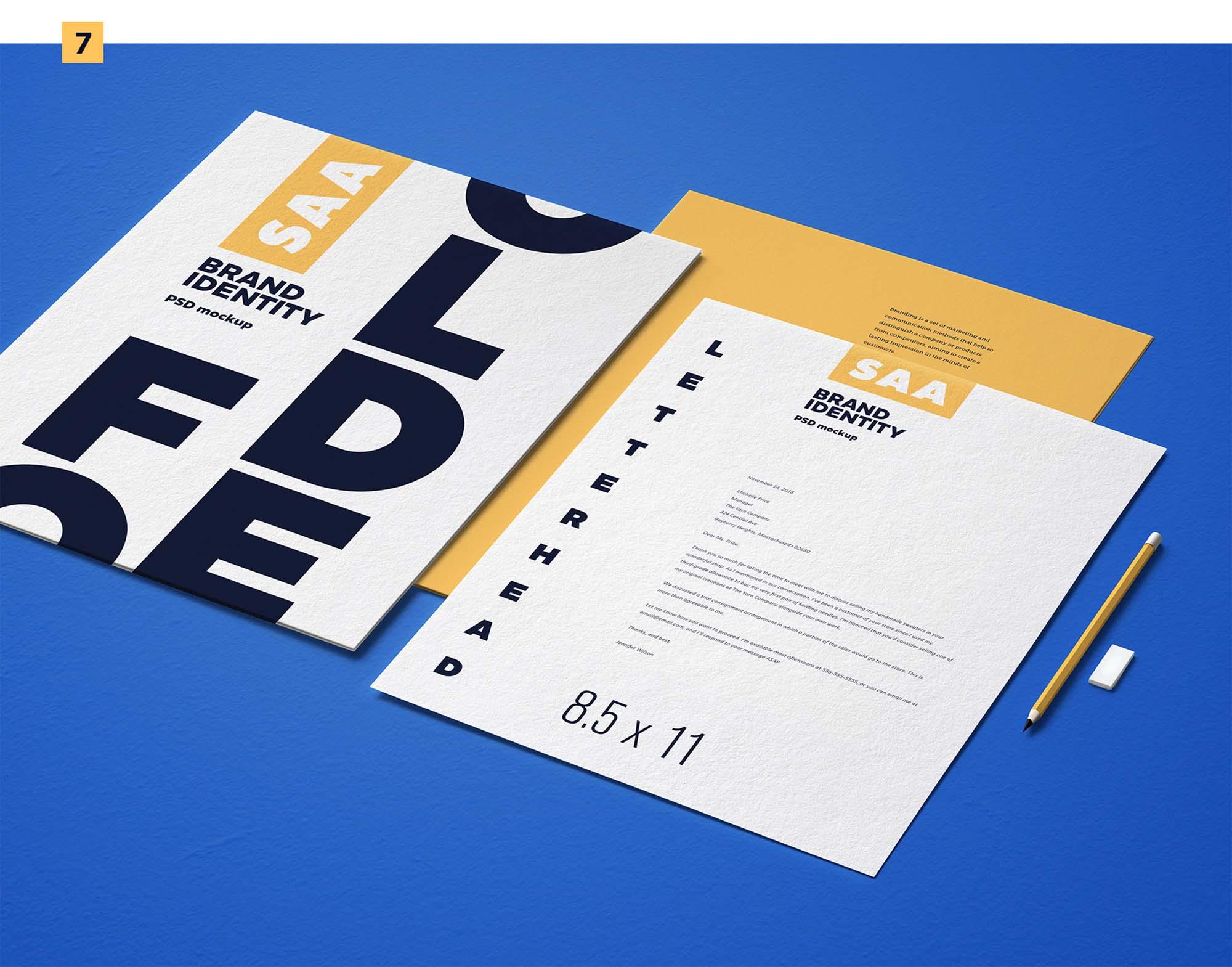 Identity Design Mockup 7