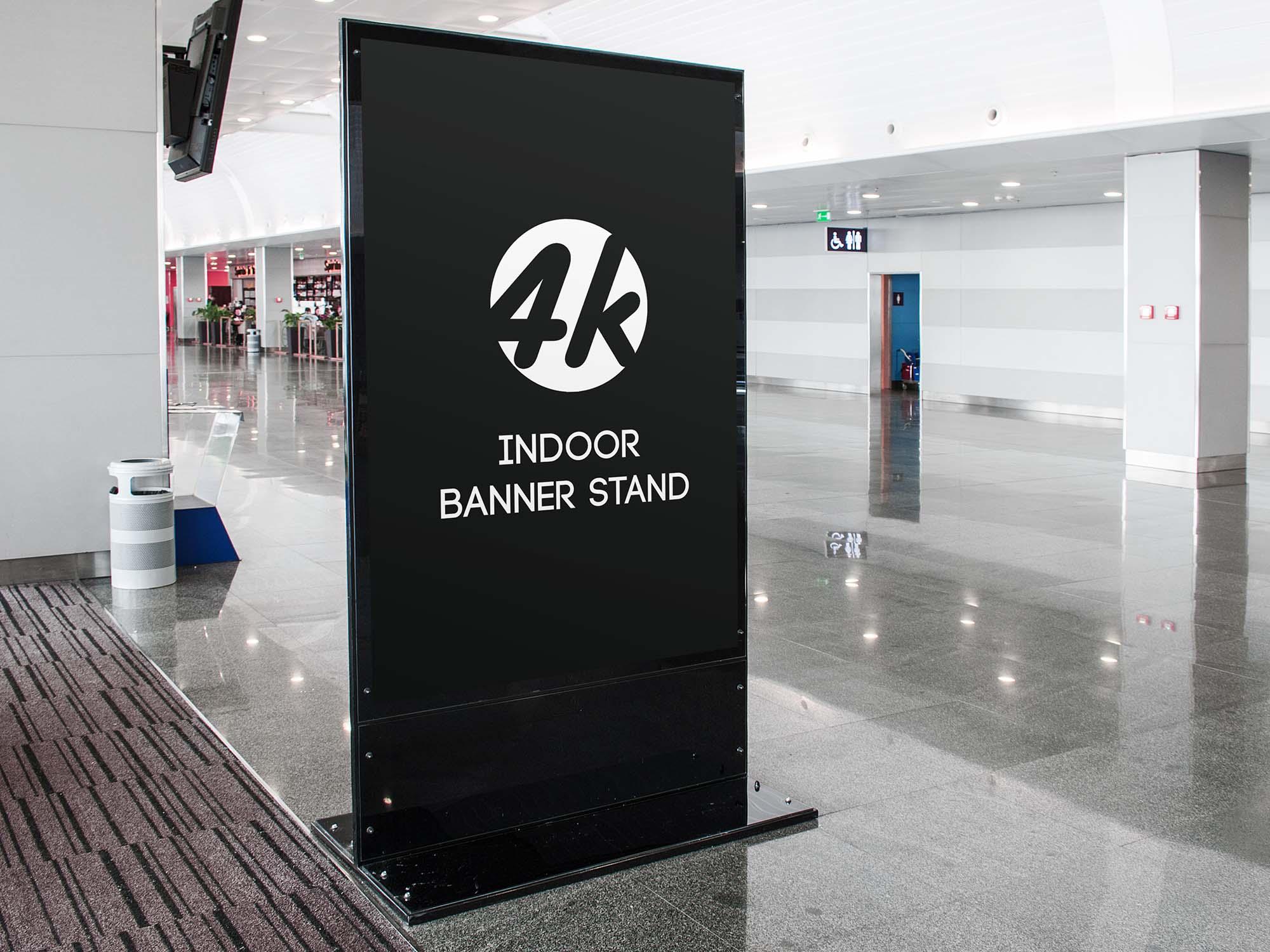 Indoor Banner Stand Mockup