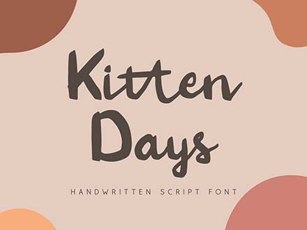 Kitten Days Font