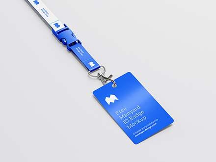 Lanyard ID Badge Mockup