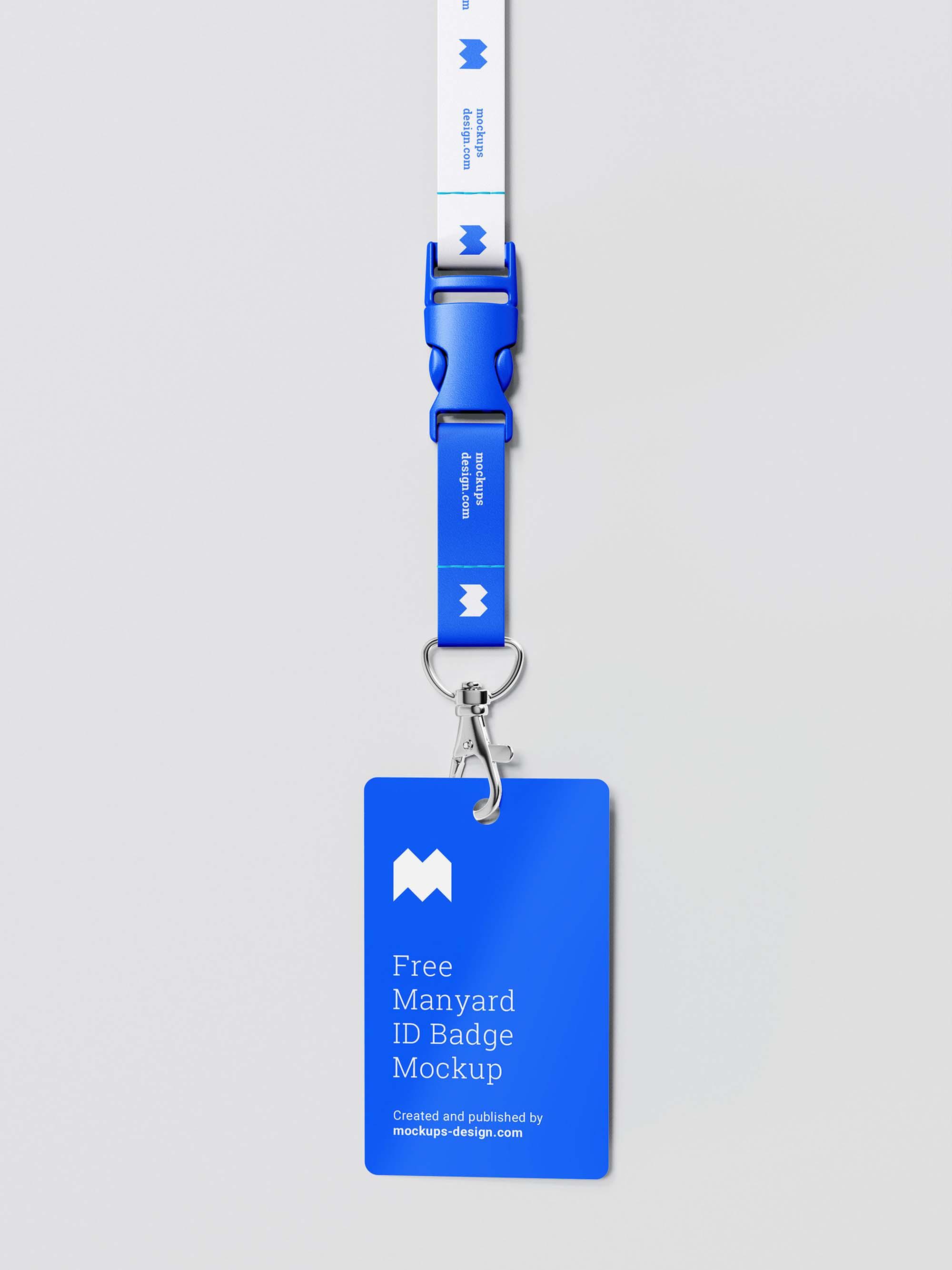 Lanyard ID Badge Mockup 1