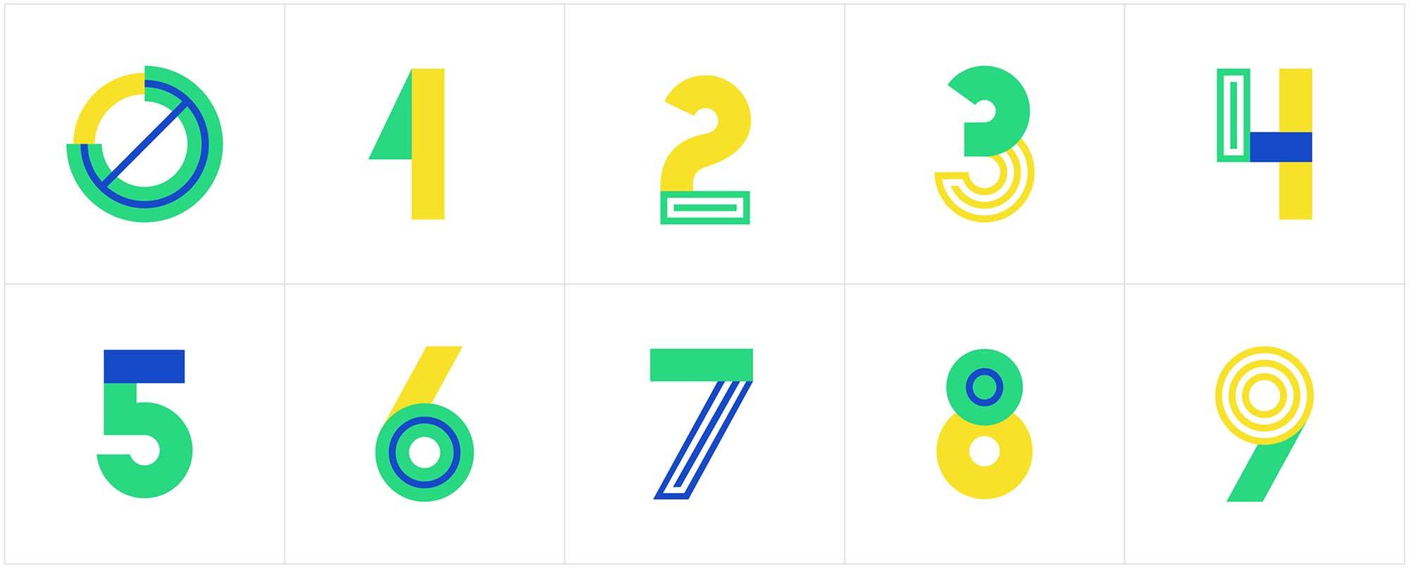 Metra Vector Typeface Numbers