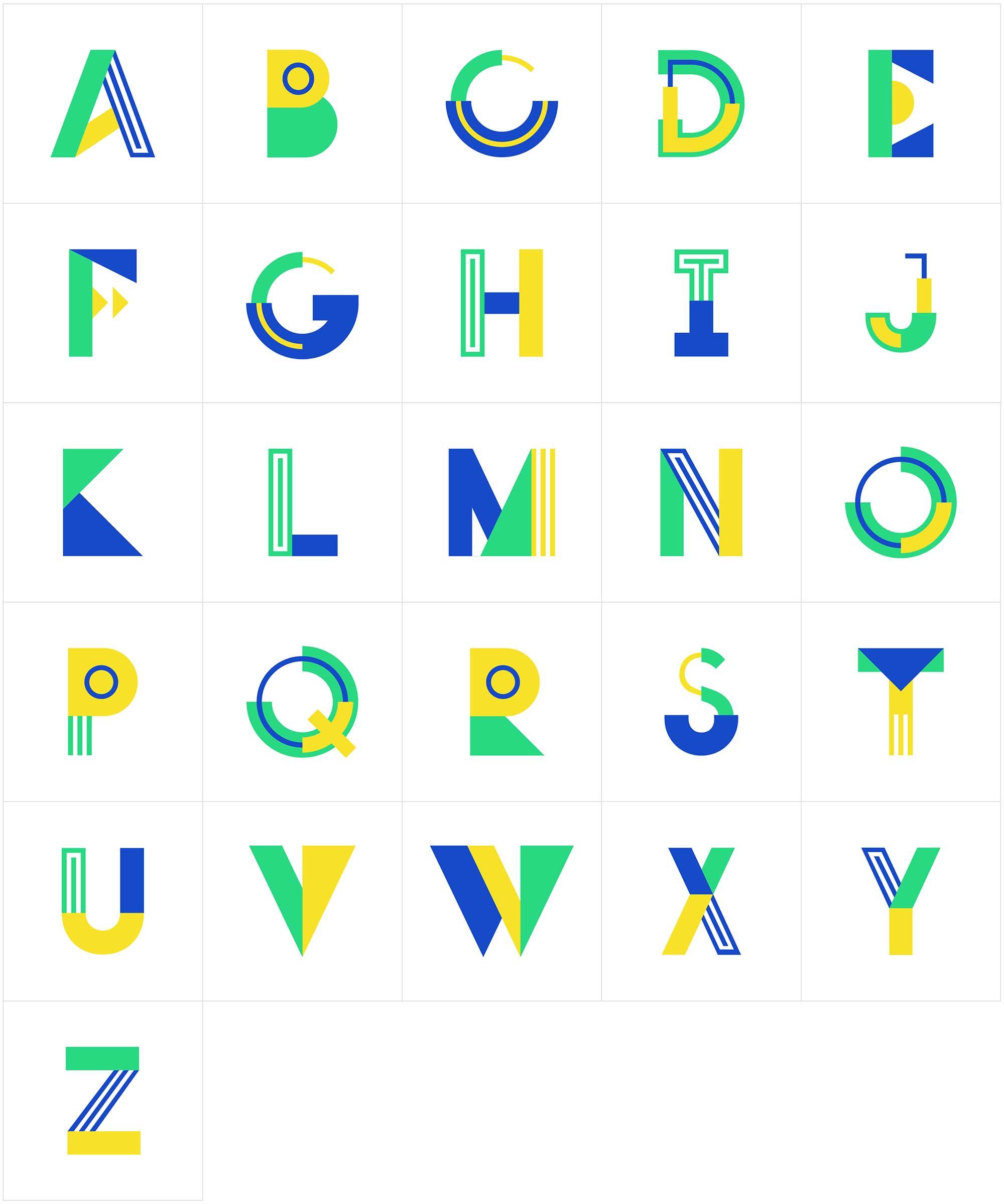 Metra Vector Typeface Letters