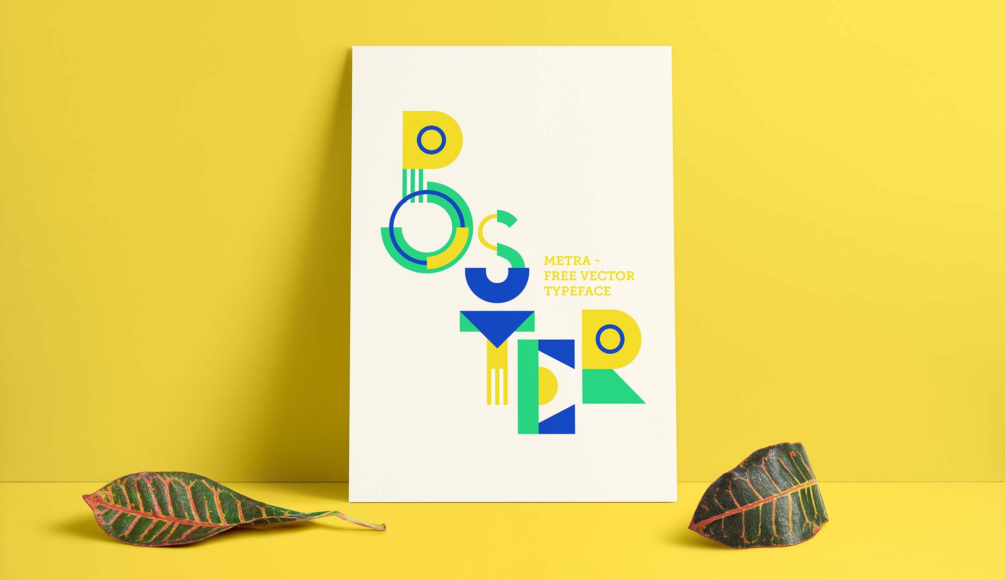Metra Vector Typeface Poster