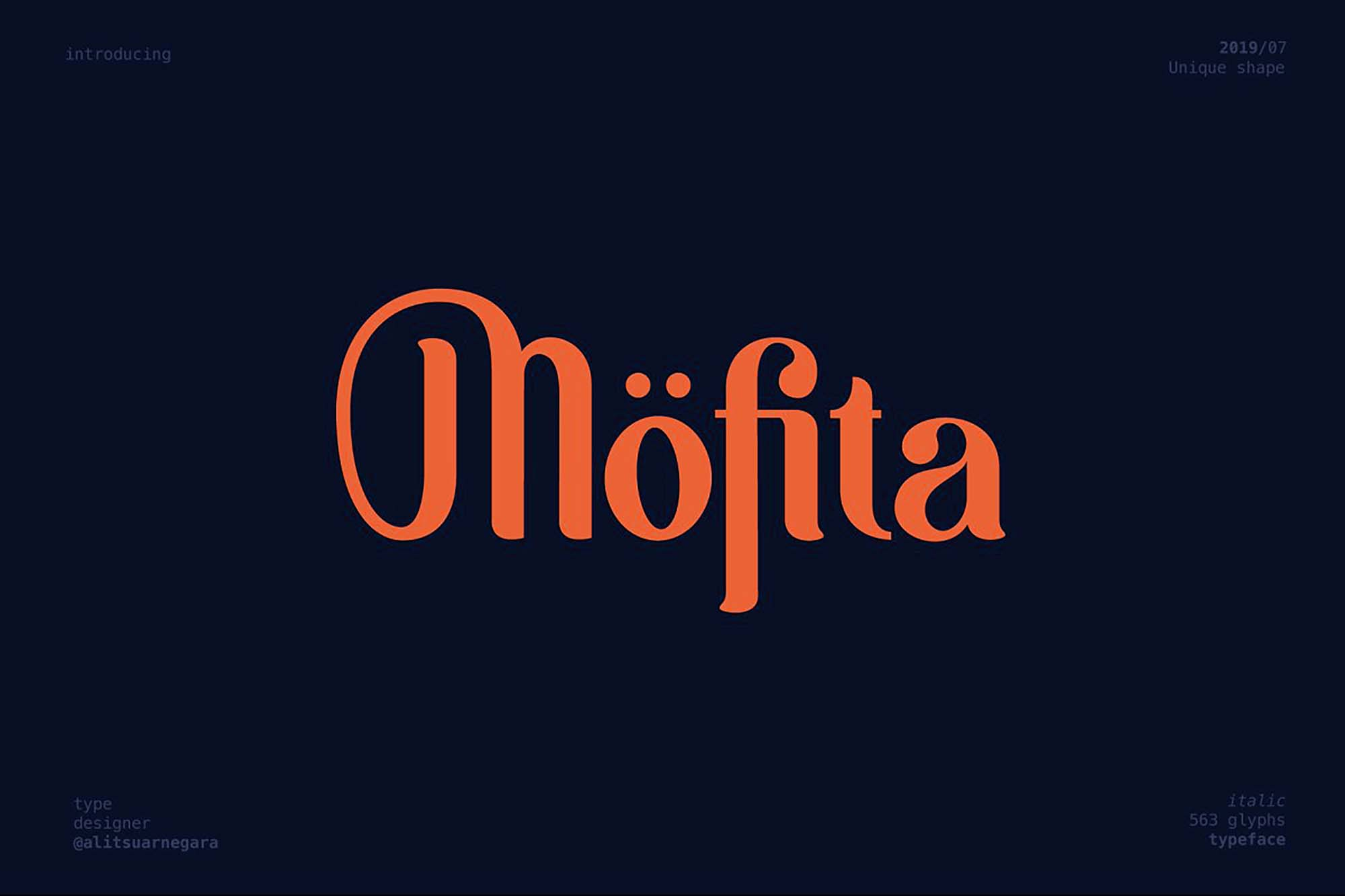 Mofita Display Font