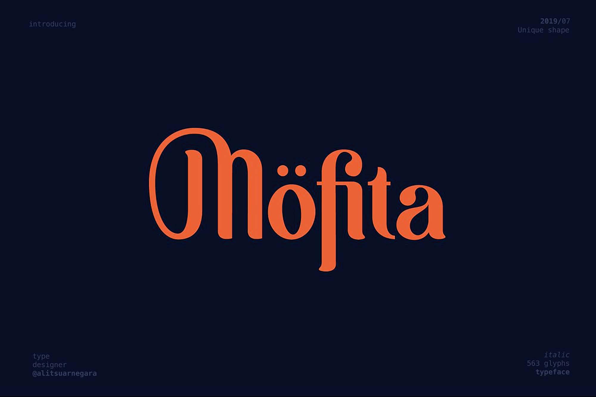 Mofita Display Font