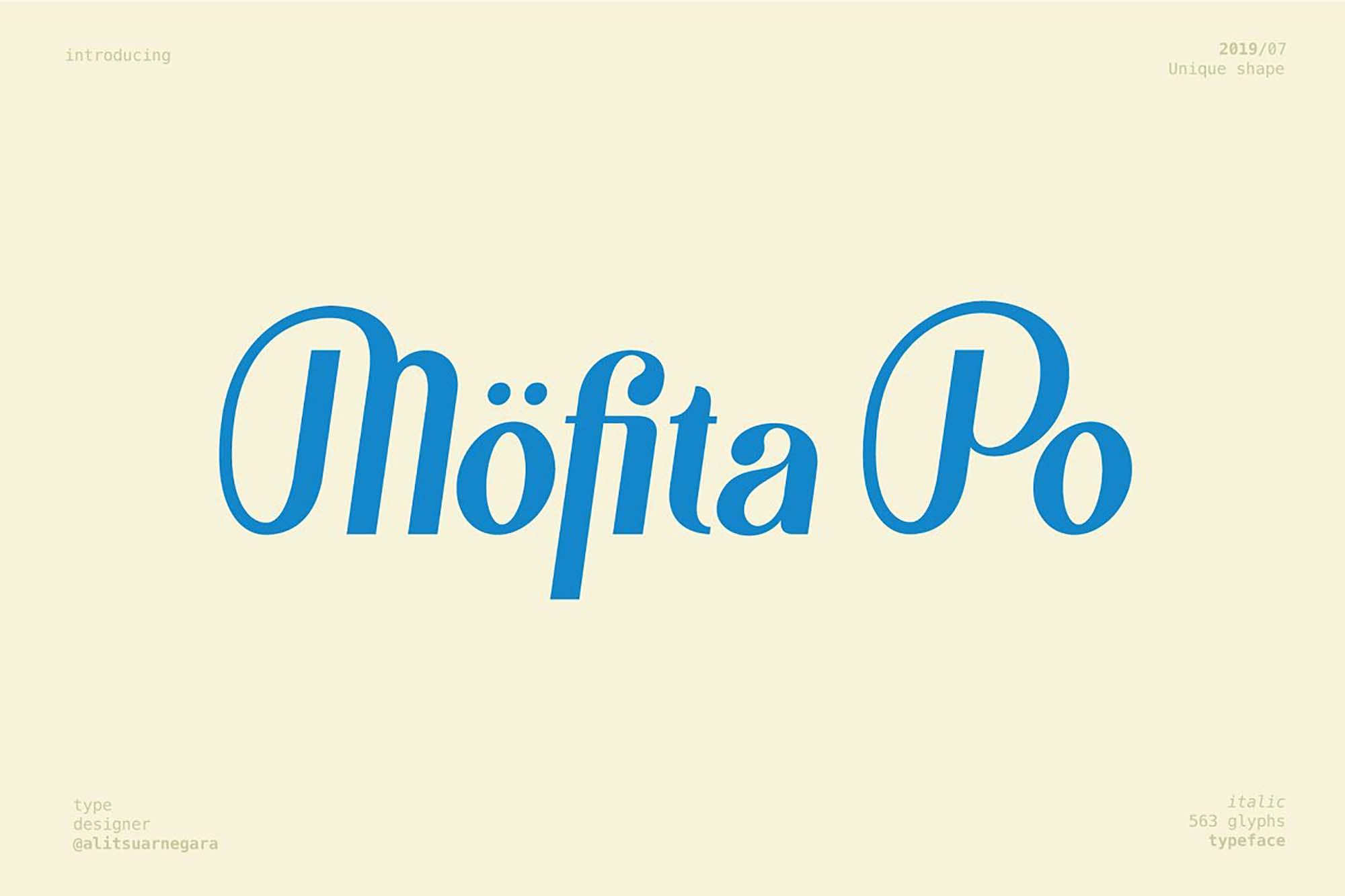 Mofita Font Styles