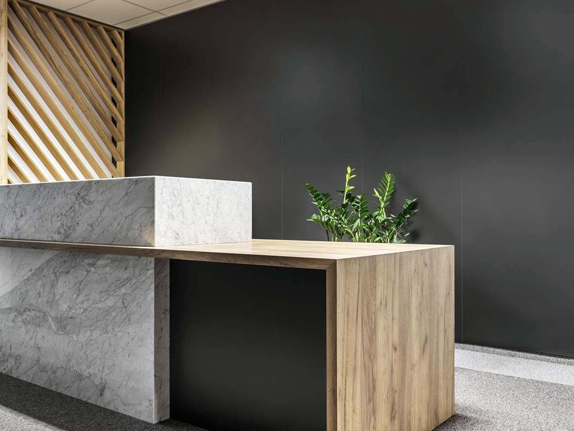 Office Reception 3D Logo Mockup 2