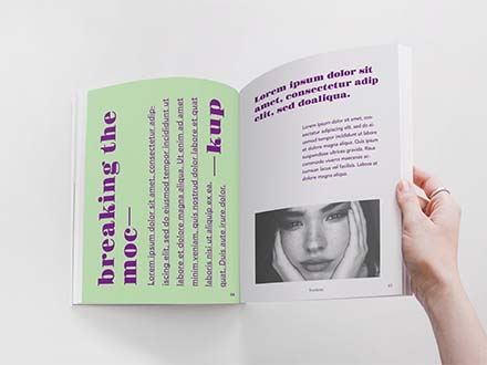 Opened by Hand Magazine Mockup