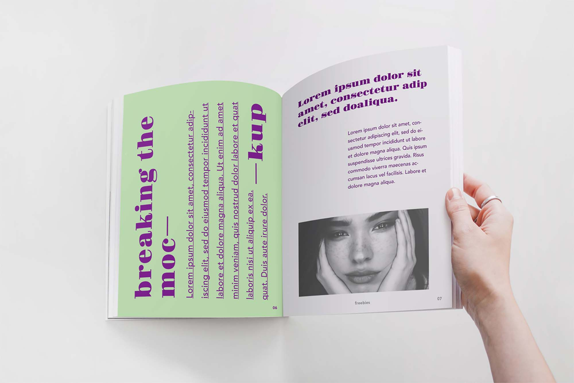 Opened by Hand Magazine Mockup