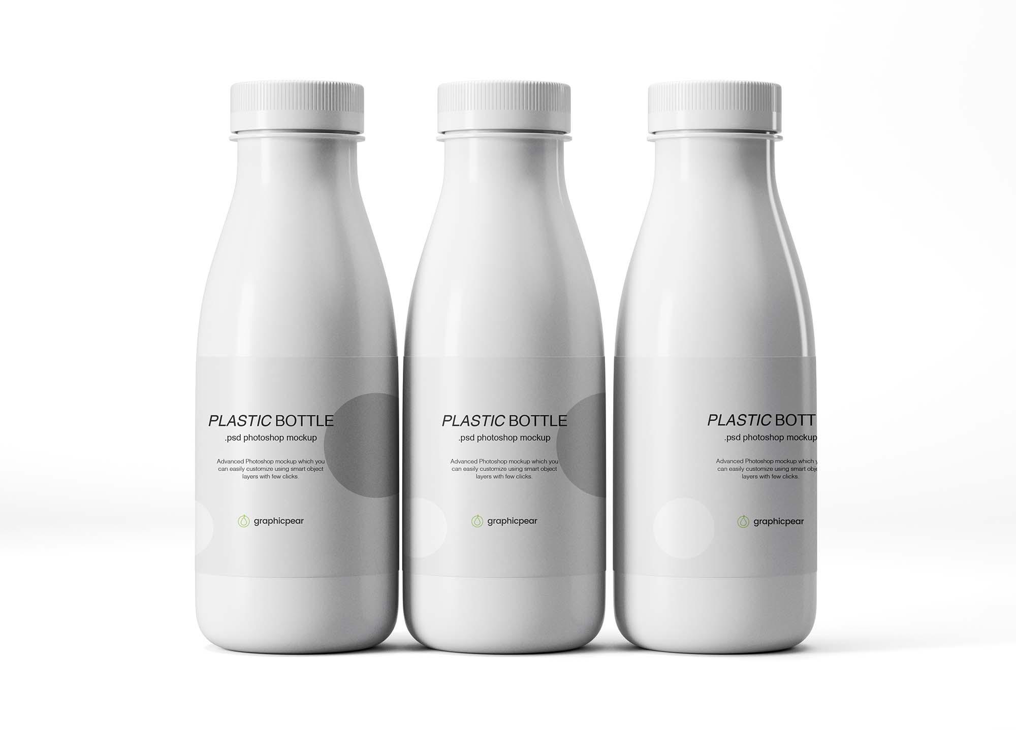 Plastic Bottles Mockup 2