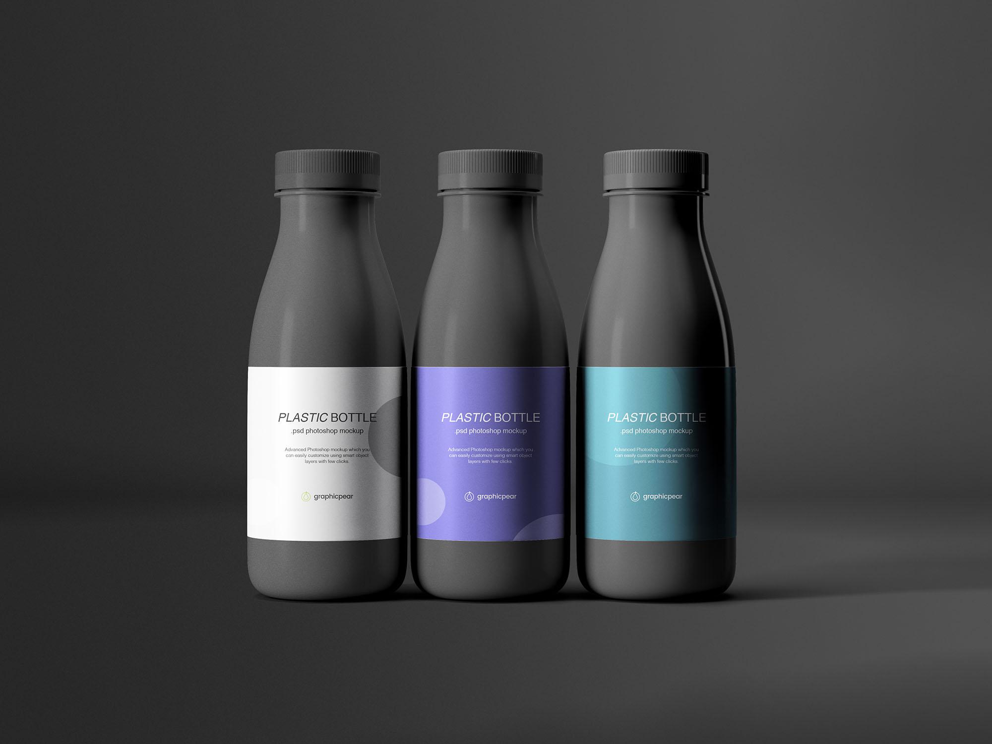 Plastic Bottles Mockup 3