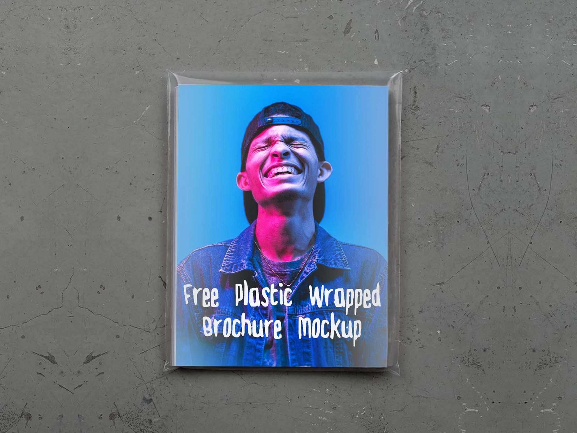 Plastic Wrapped Brochure Mockup