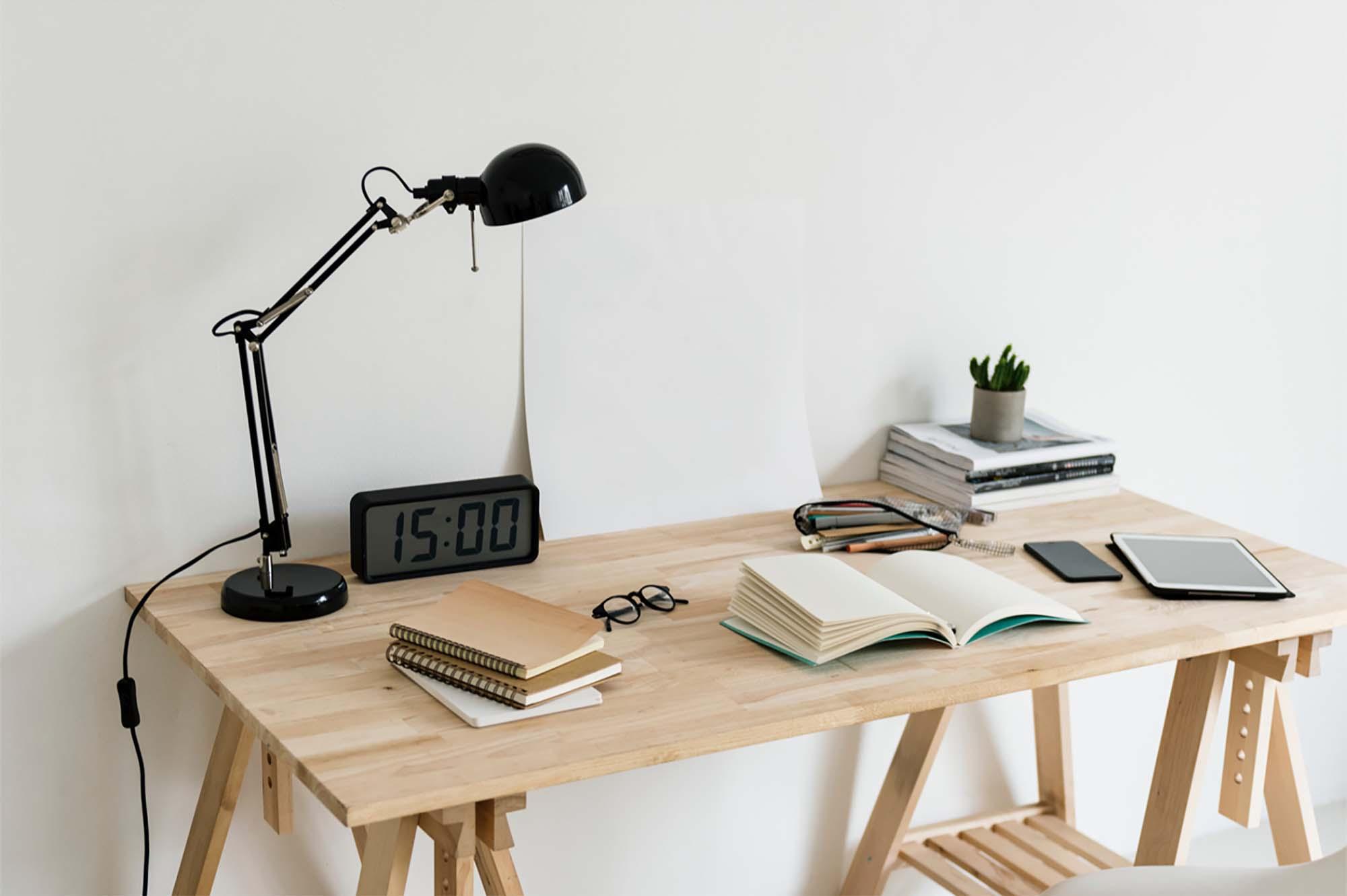 Poster on Desk Mockup 2