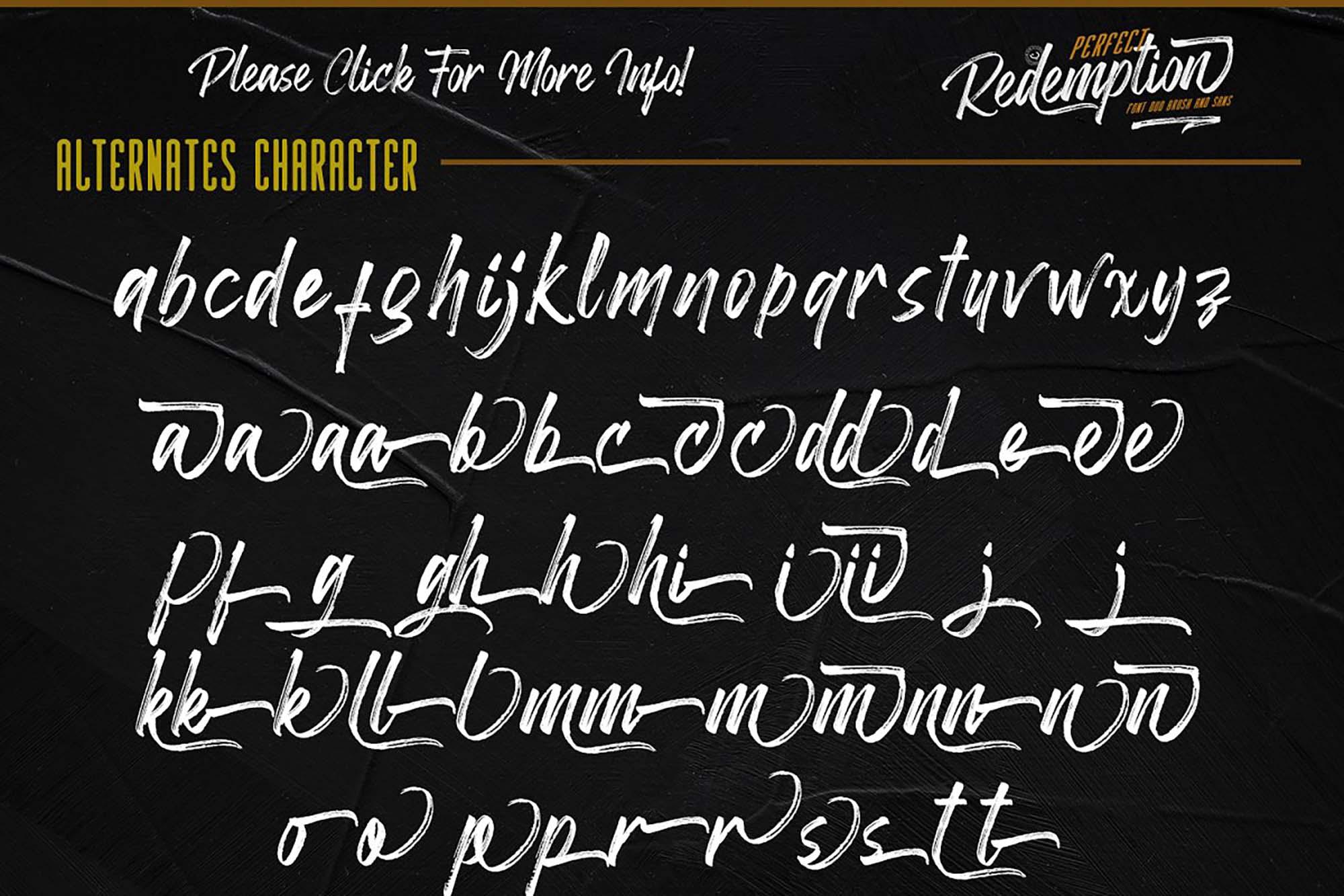 Redemption Script Font Letters