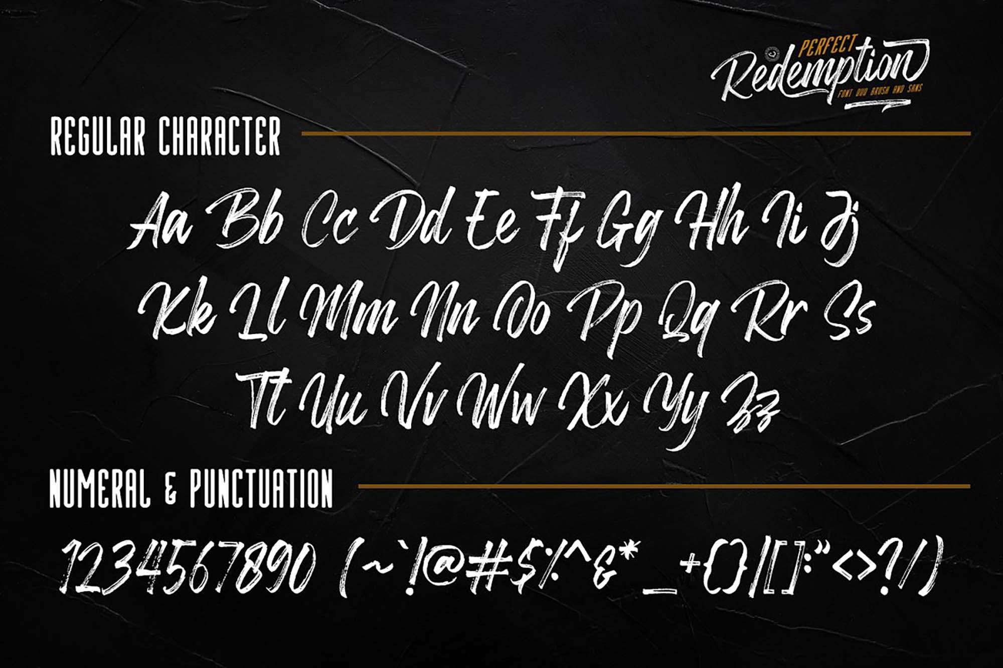 Redemption Script Font 6
