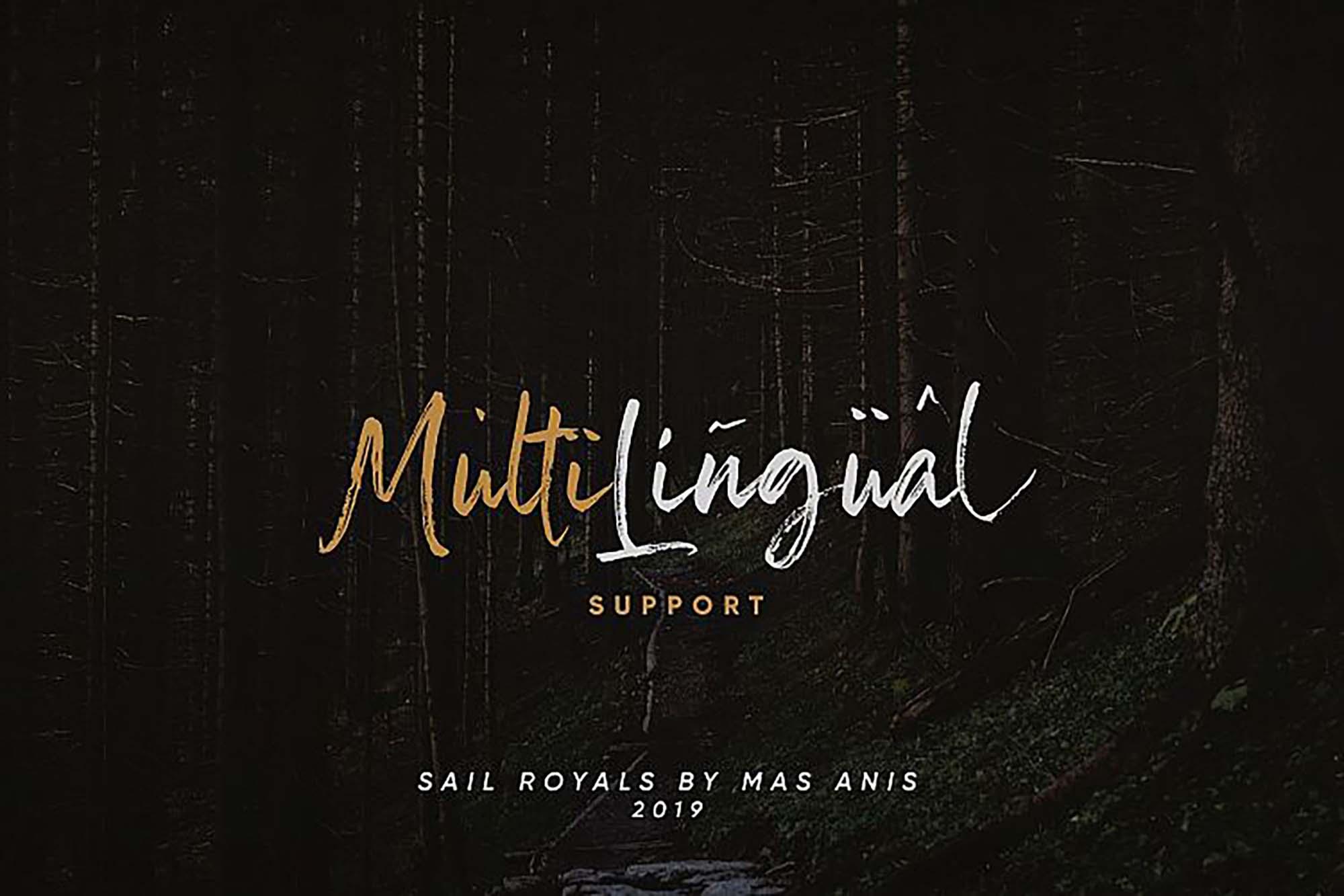 Sail Royals Font Multilingual