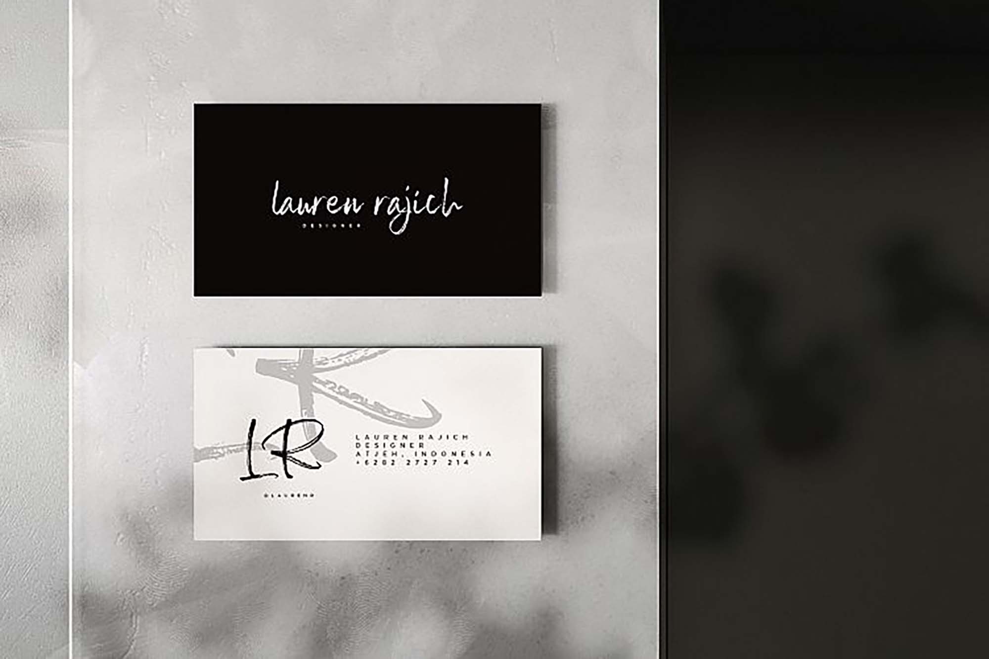 Sail Royals Font on Business Card