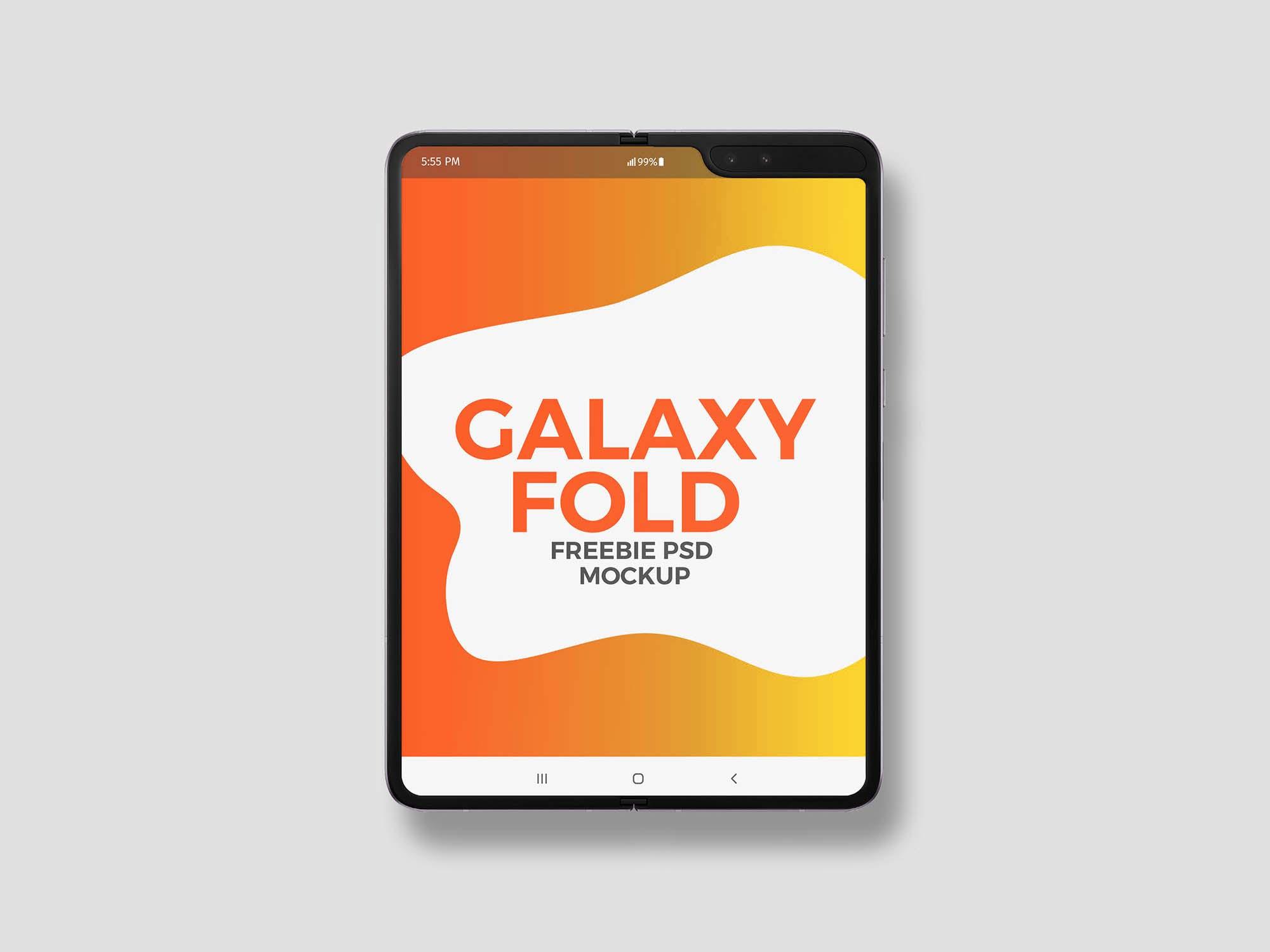 Samsung Galaxy Fold Mockup