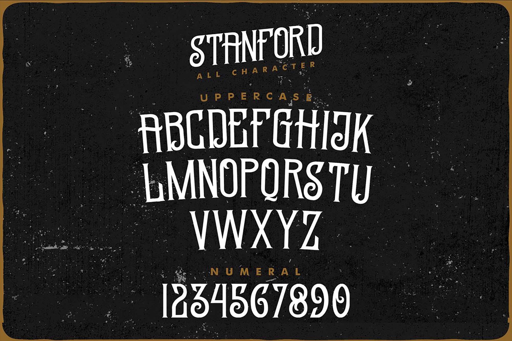 Standford Vintage Font Letters