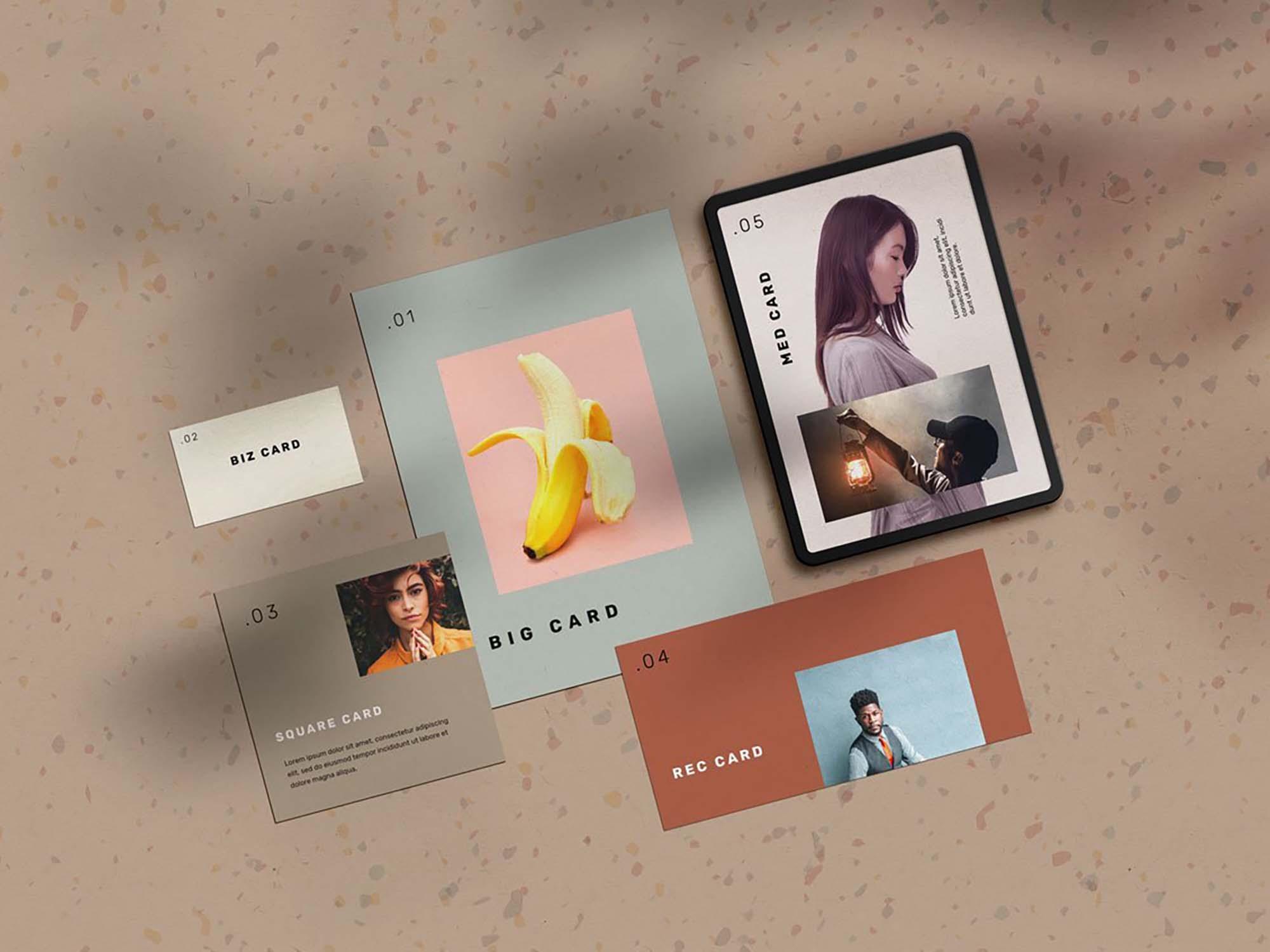 Stationery Cards Mockup 2