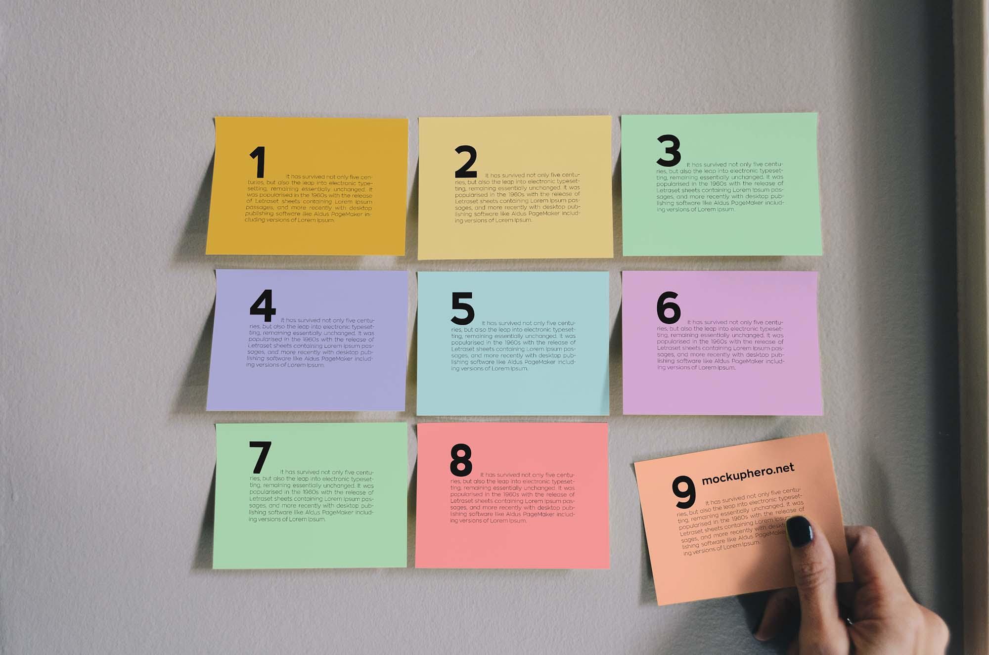 Sticky Notes Mockup