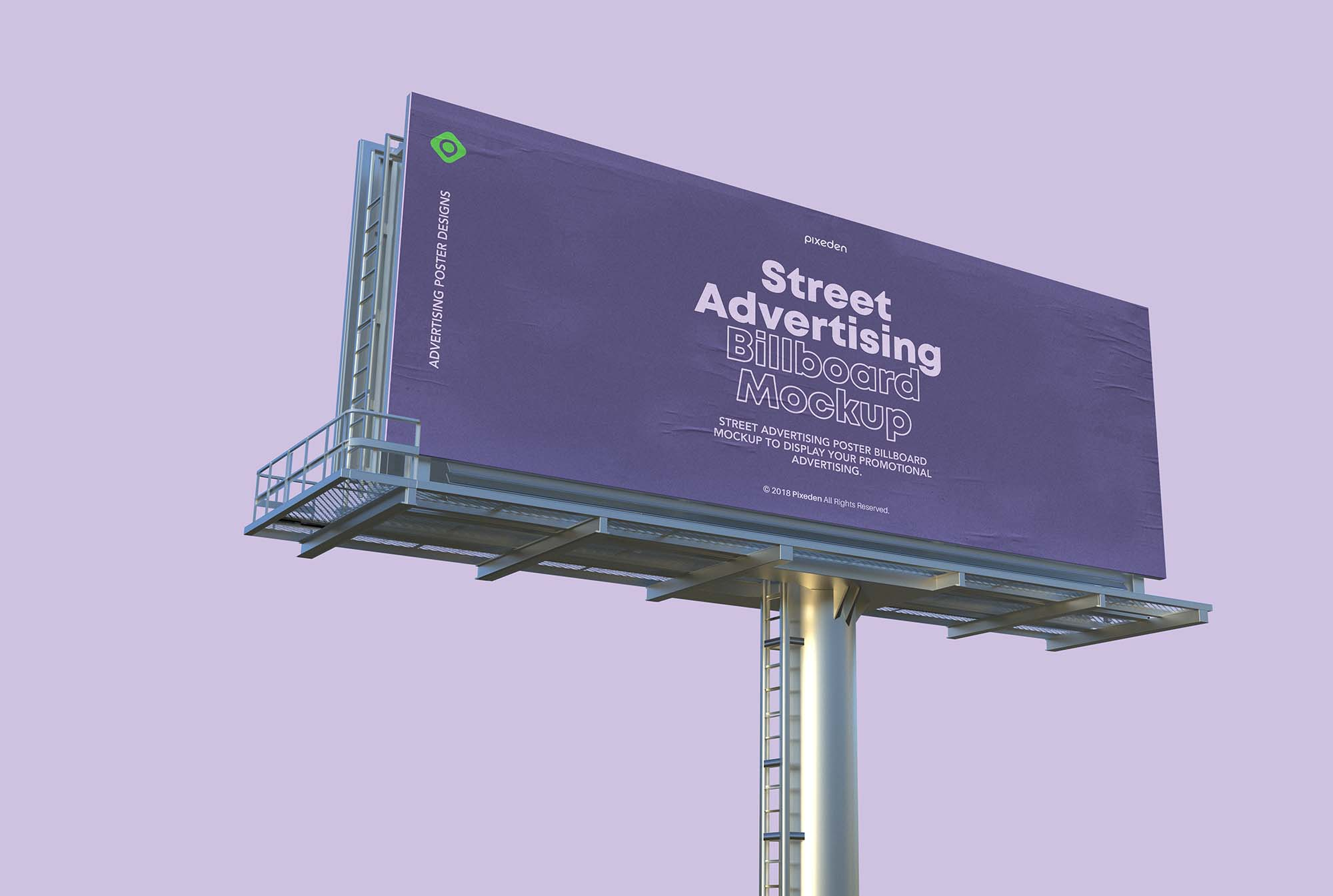 Street Advertising Billboard Mockup 2
