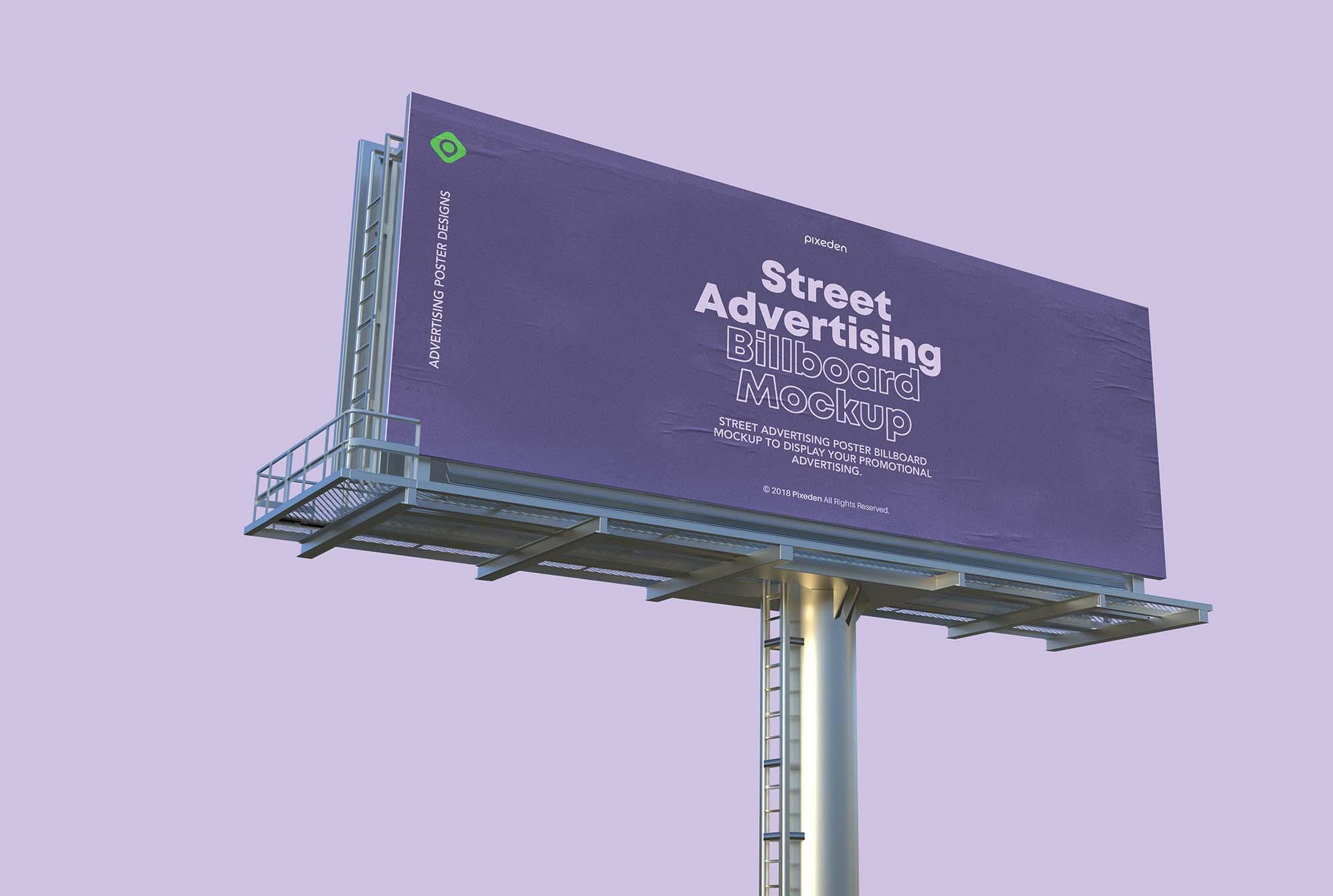 Street Advertising Billboard Mockup 2
