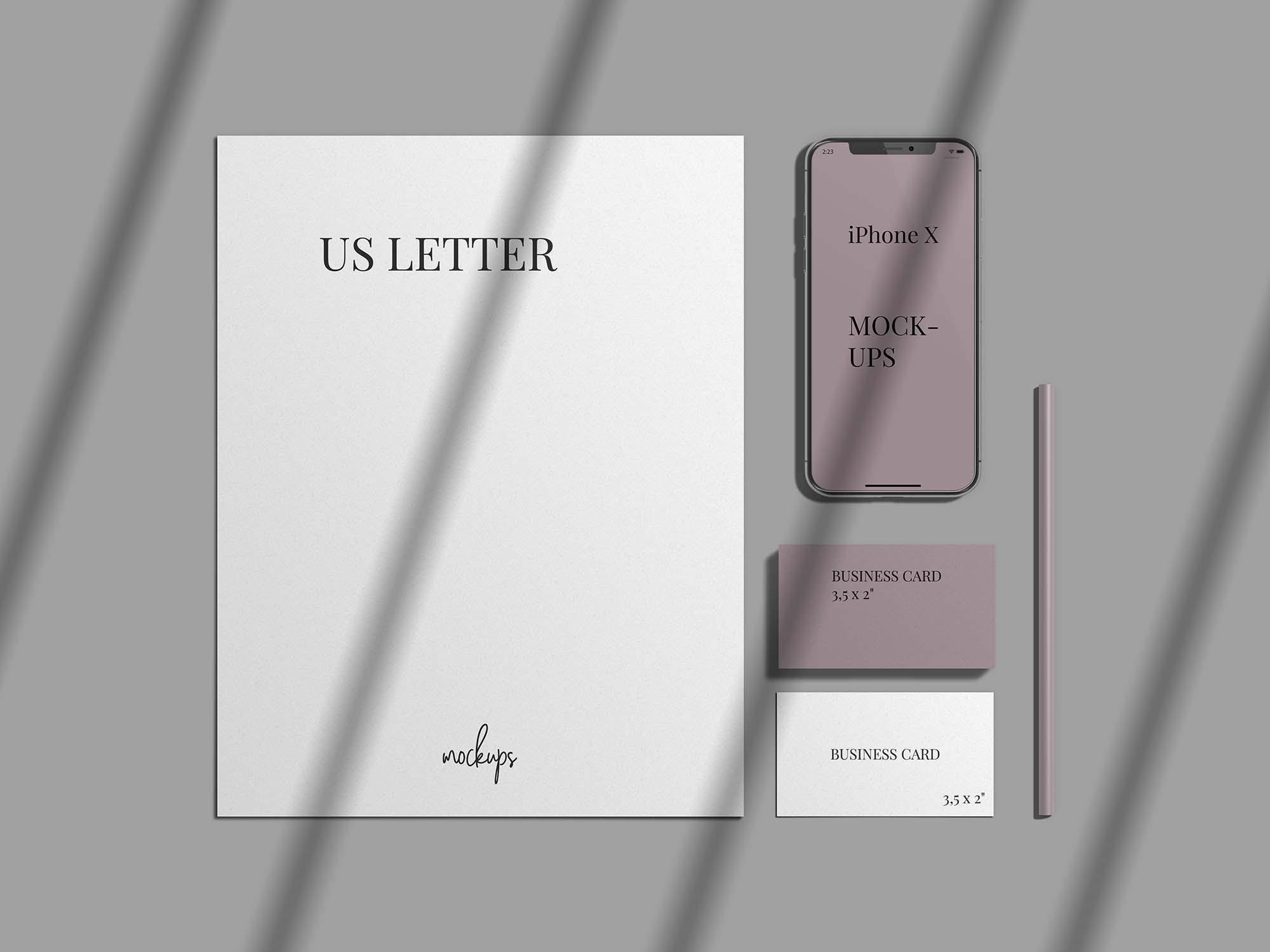 Stylish Stationery Branding Mockup 2