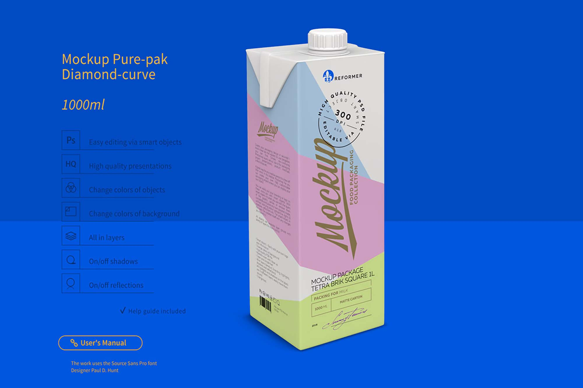 Tetra Brik Square Package Mockup 3
