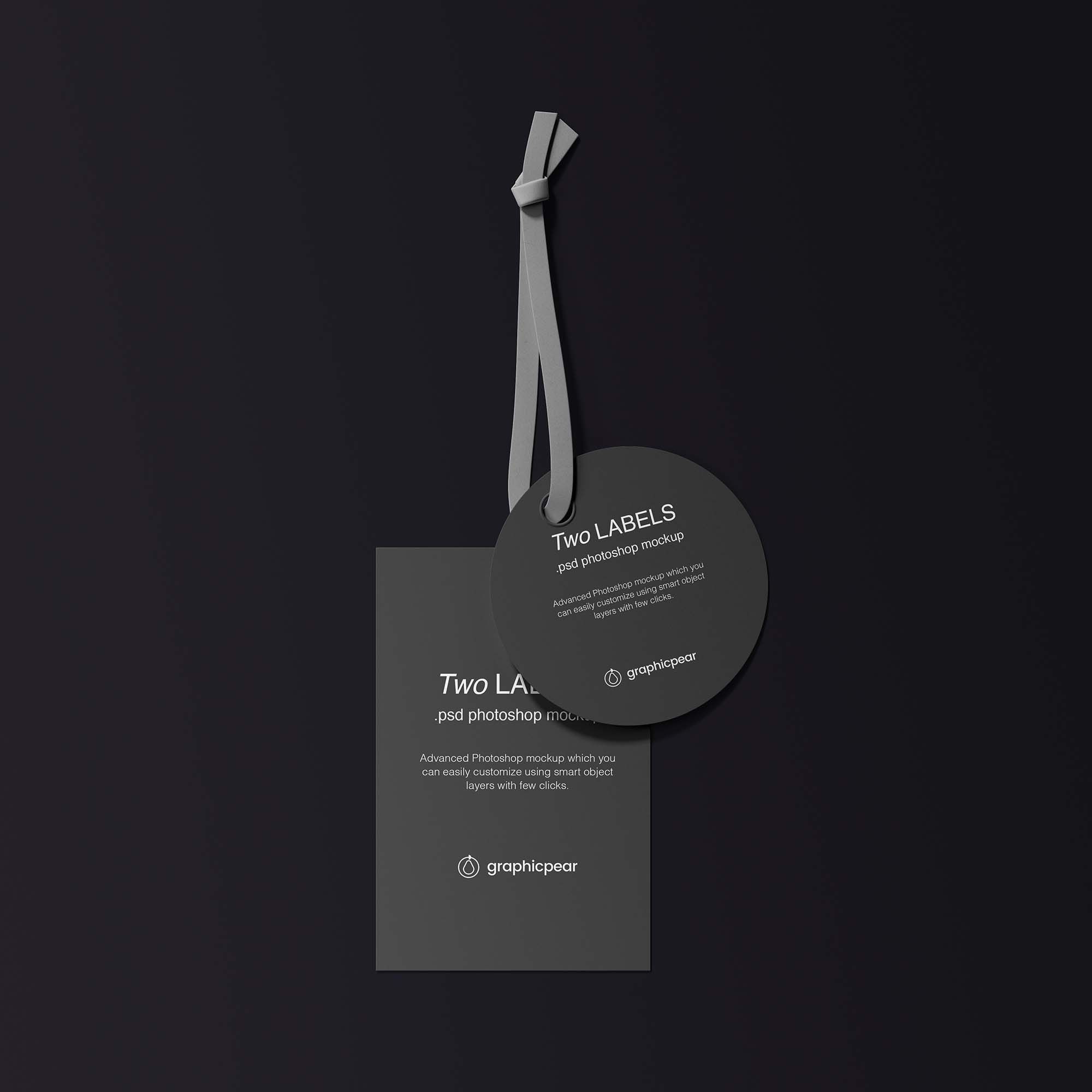 Two Labels Mockup Black