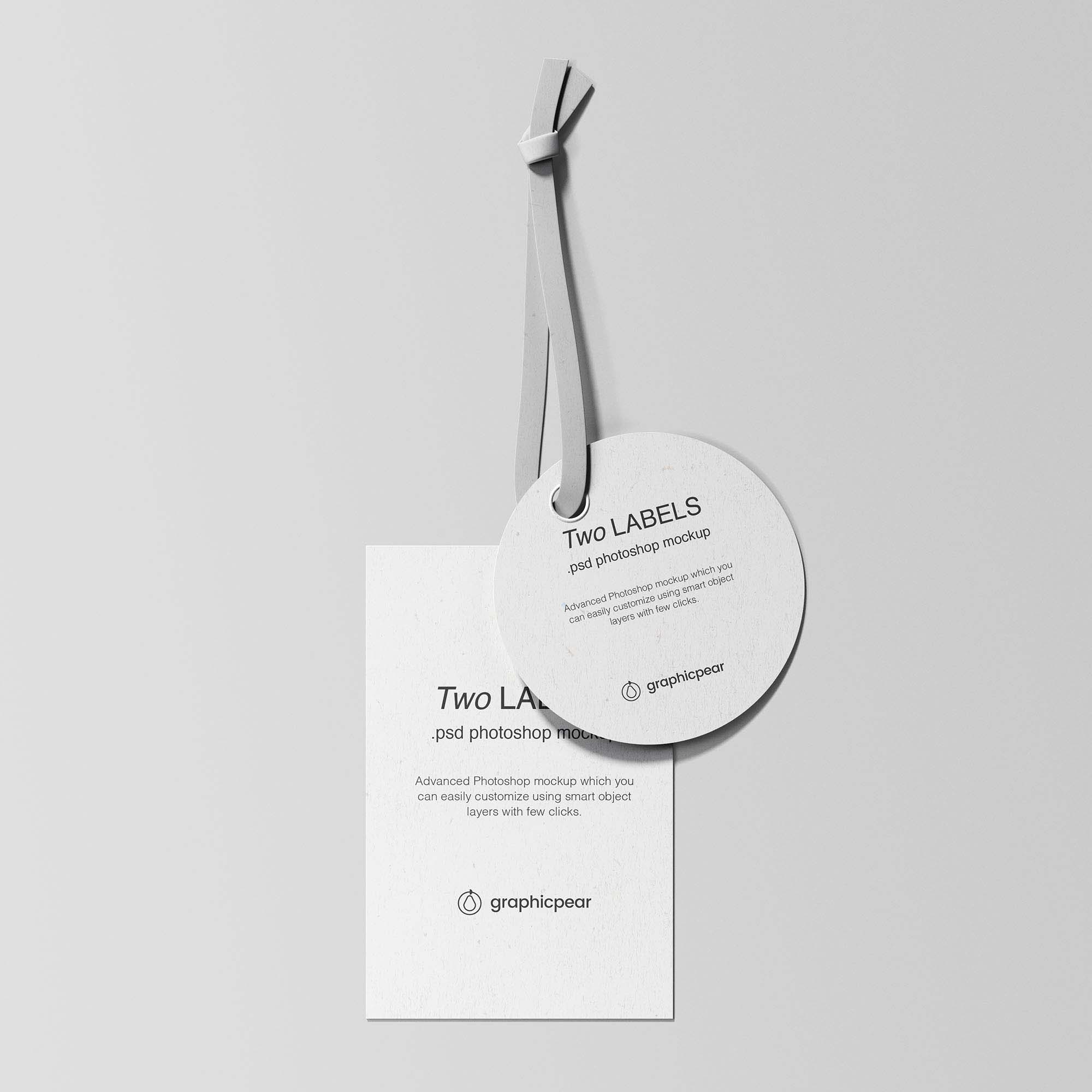 Two Labels Mockup White