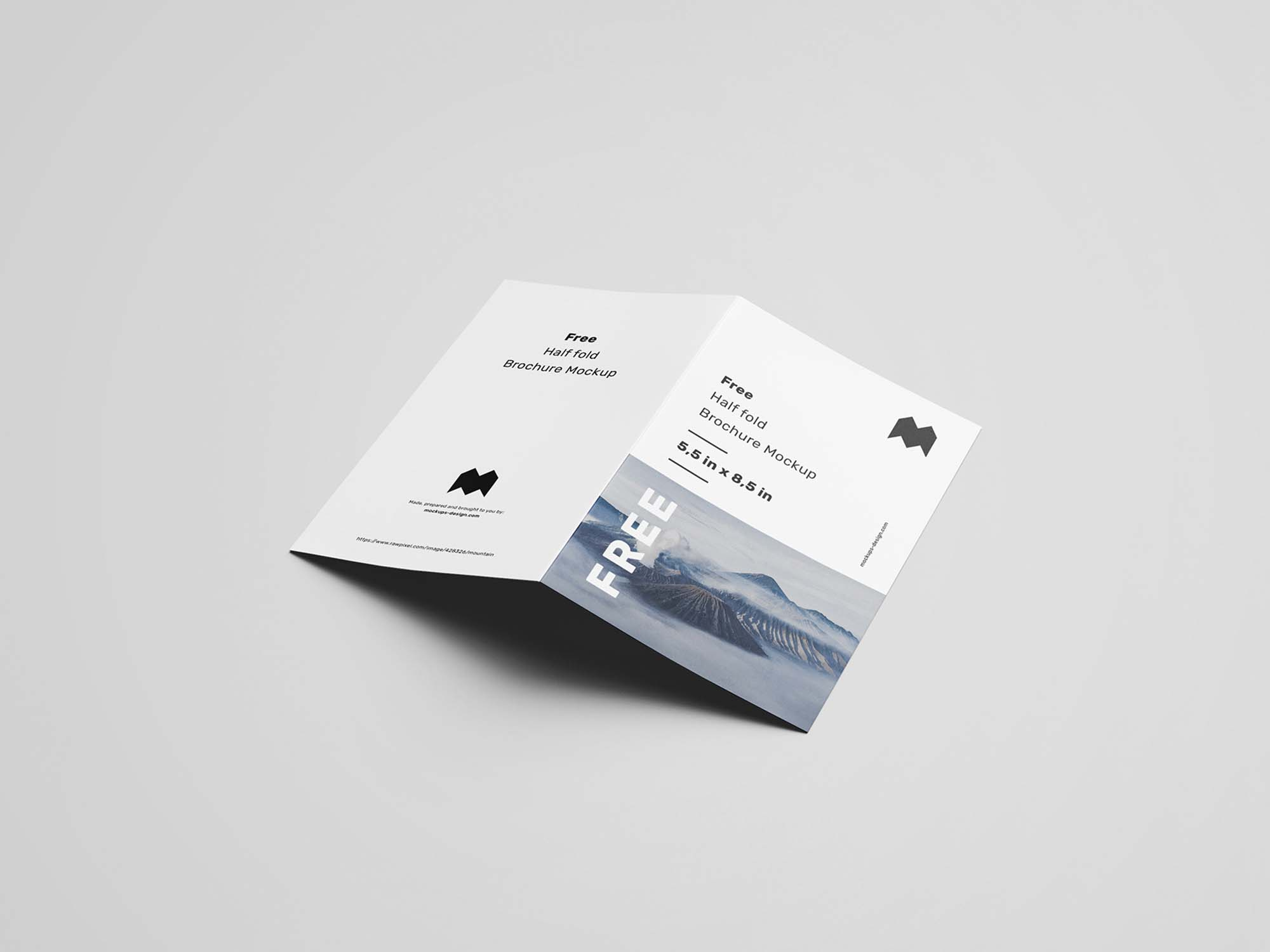 US Half Fold Brochure Mockup 4