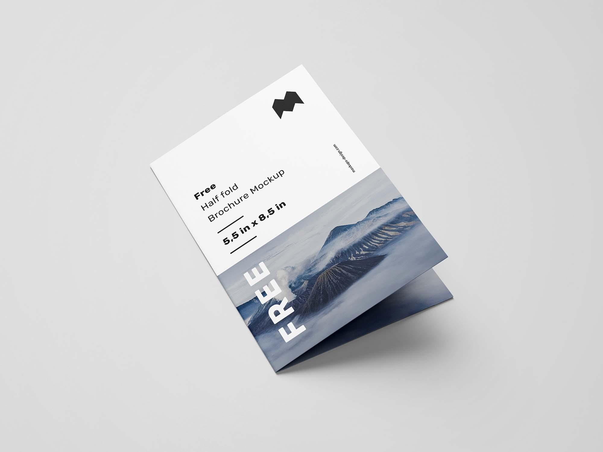 US Half Fold Brochure Mockup 3