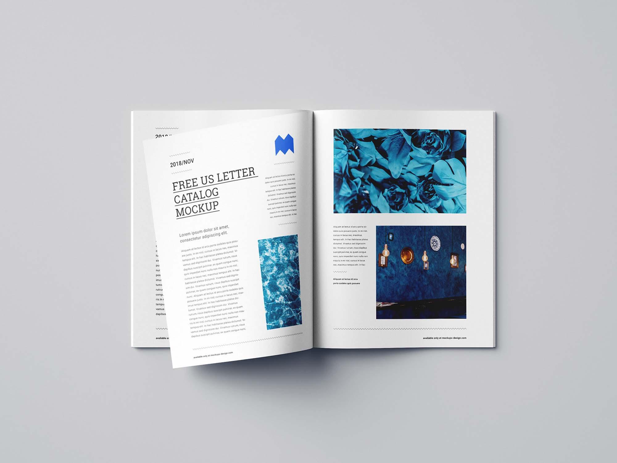 US Letter Catalog Mockup 1