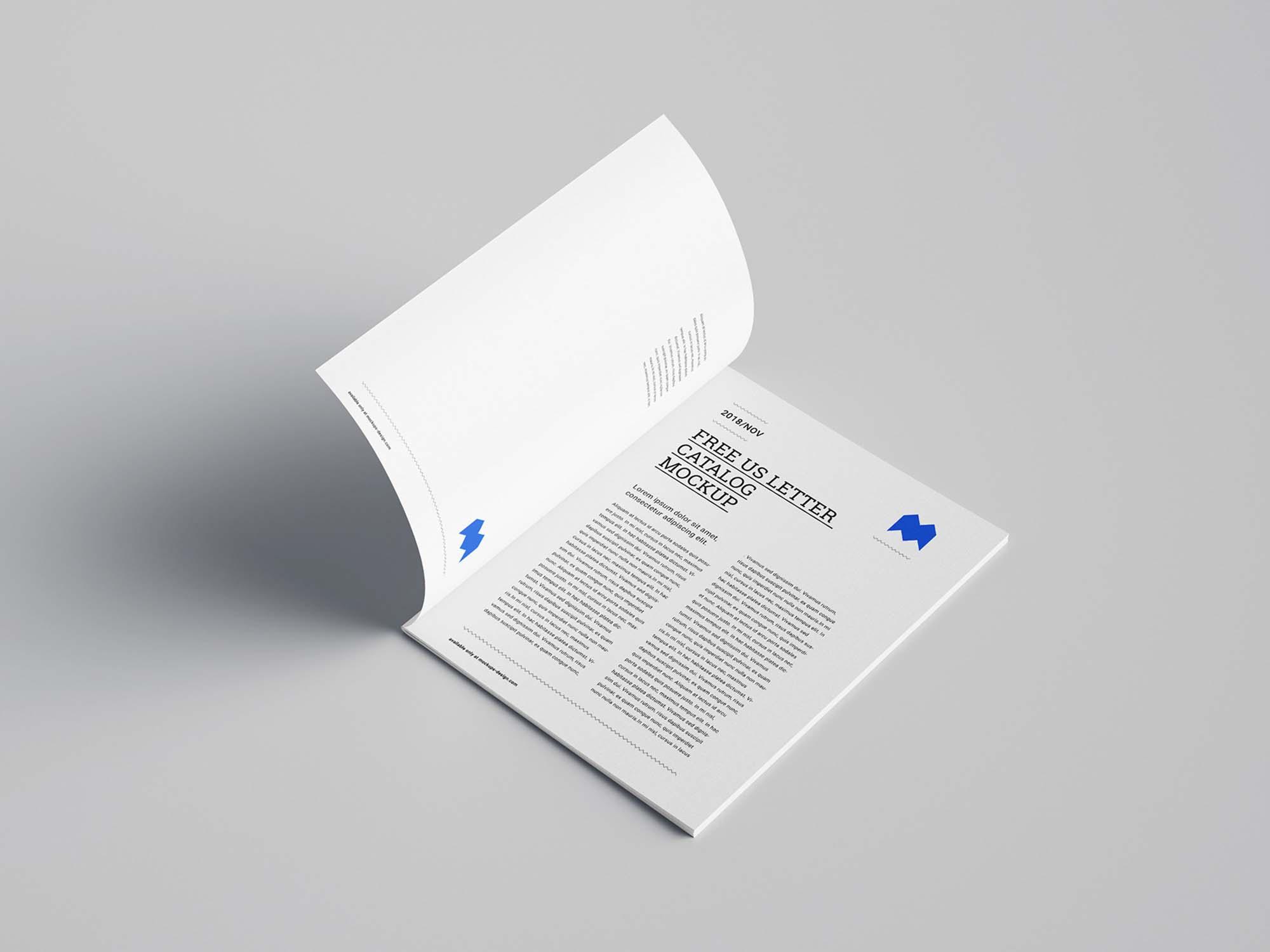 US Letter Catalog Mockup 3
