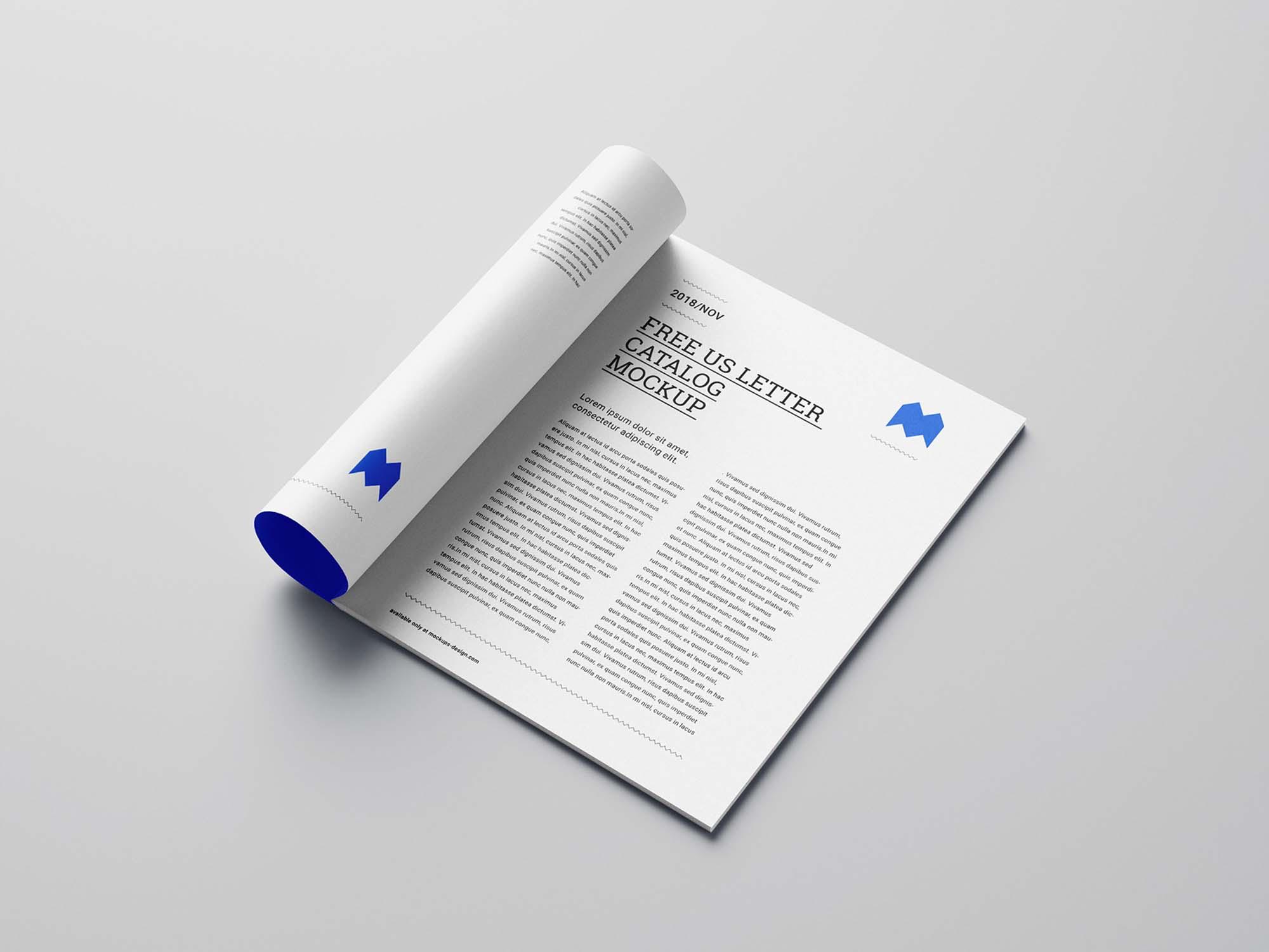 US Letter Catalog Mockup 5
