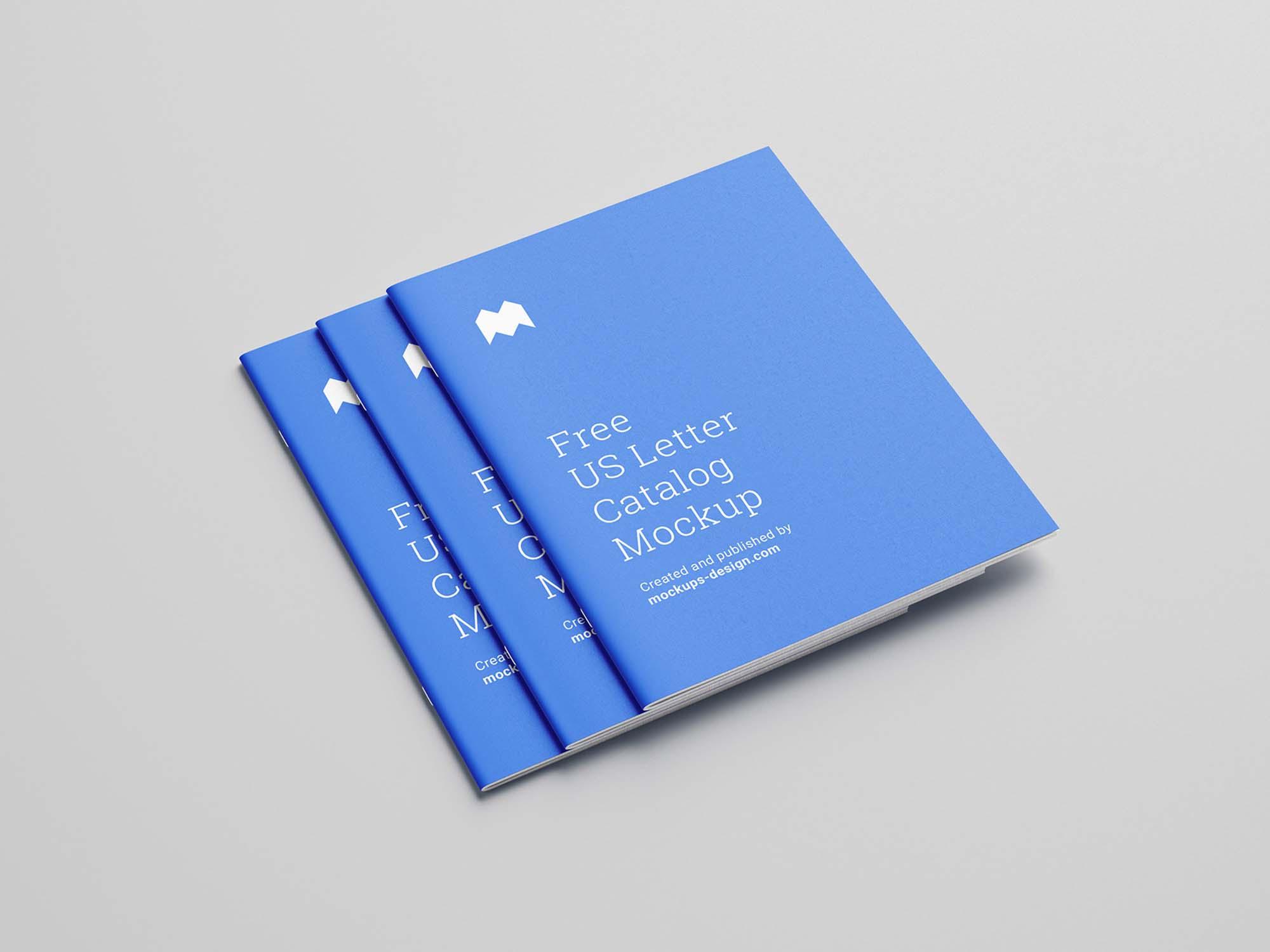 US Letter Catalog Mockup
