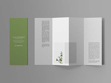 Vertical Foldable Brochure Mockup