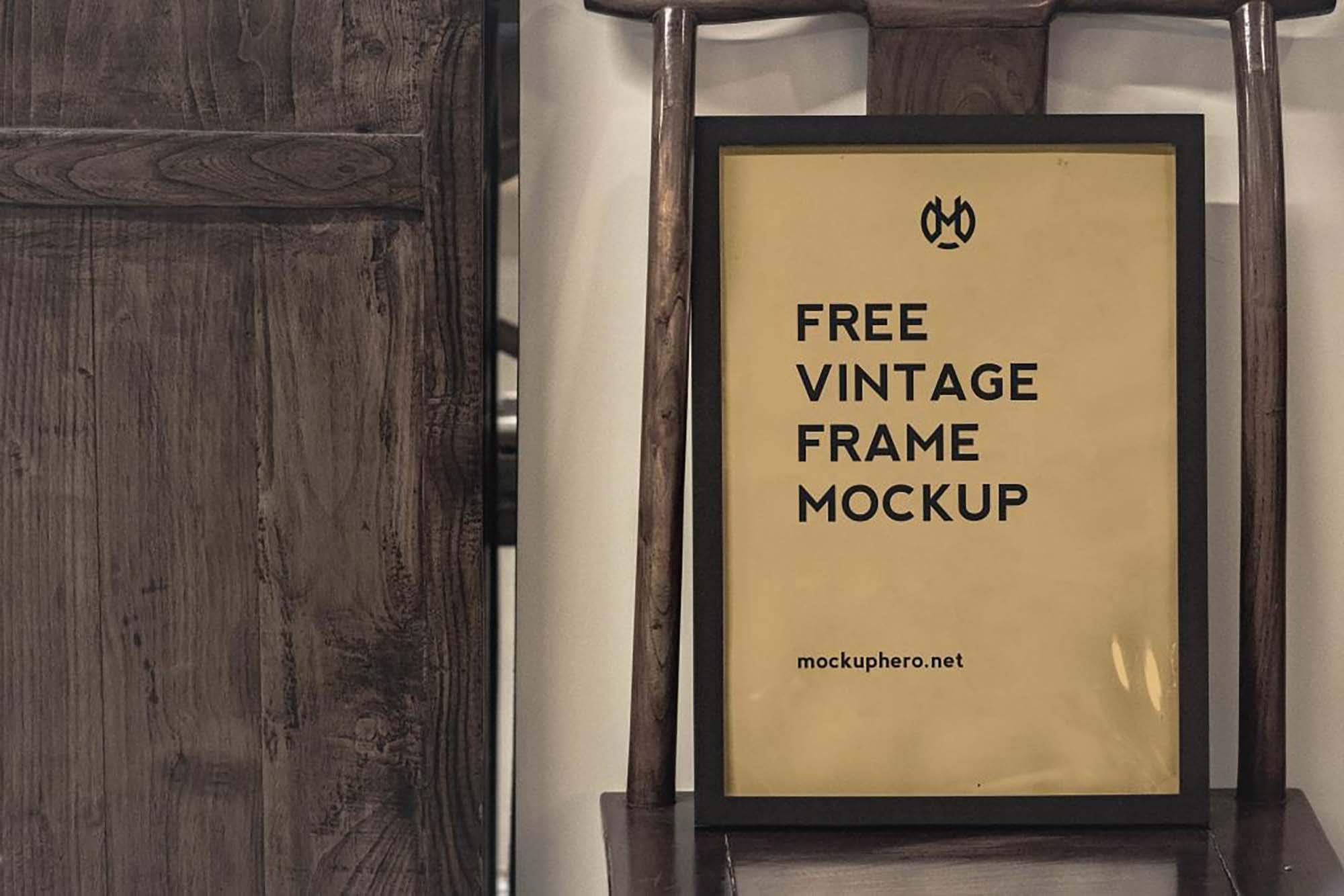 Vintage Poster Frame Mockup