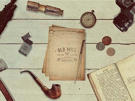 Vintage Scene Creator Mockup