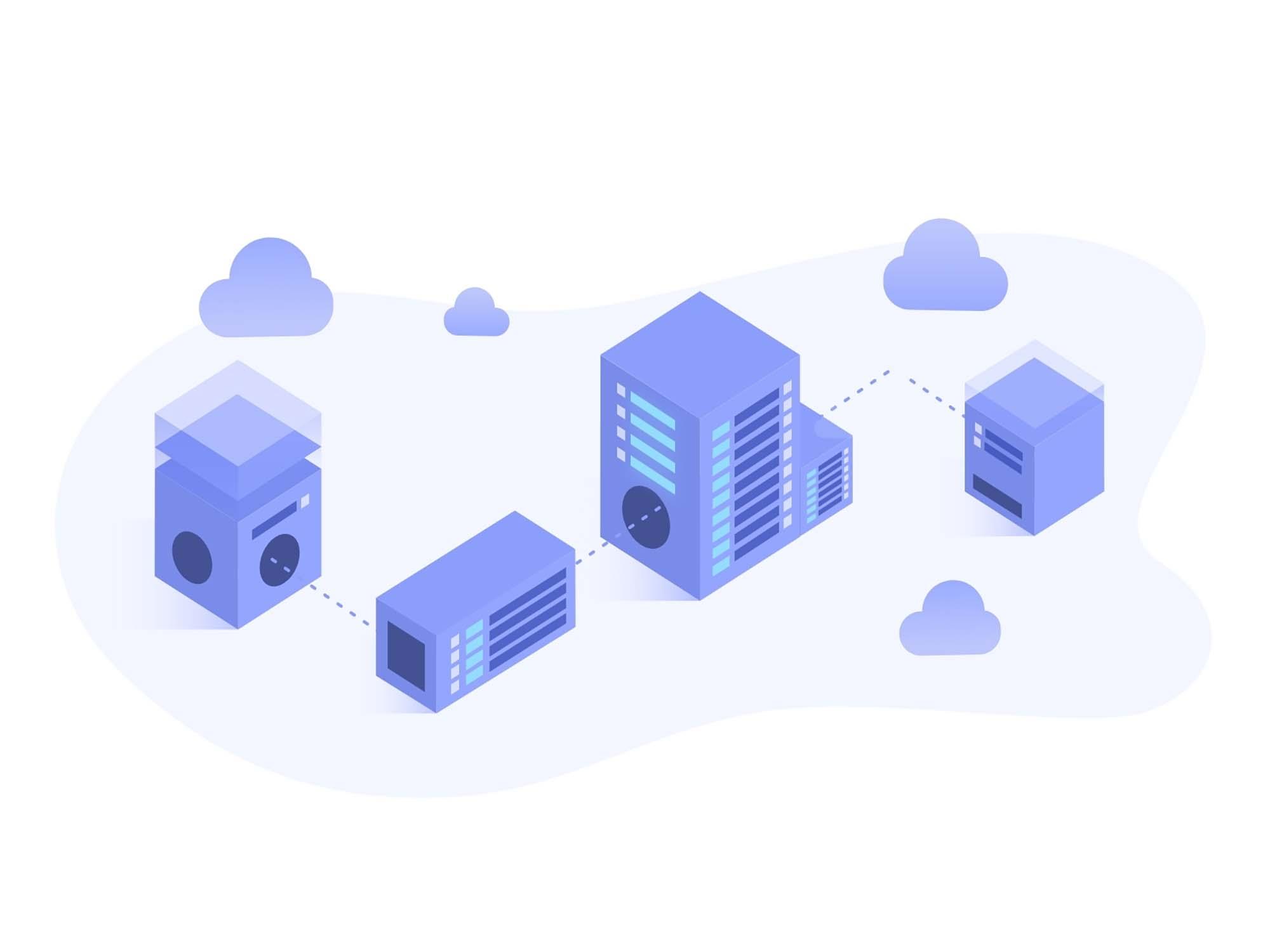 Web Hosting Vector Illustration
