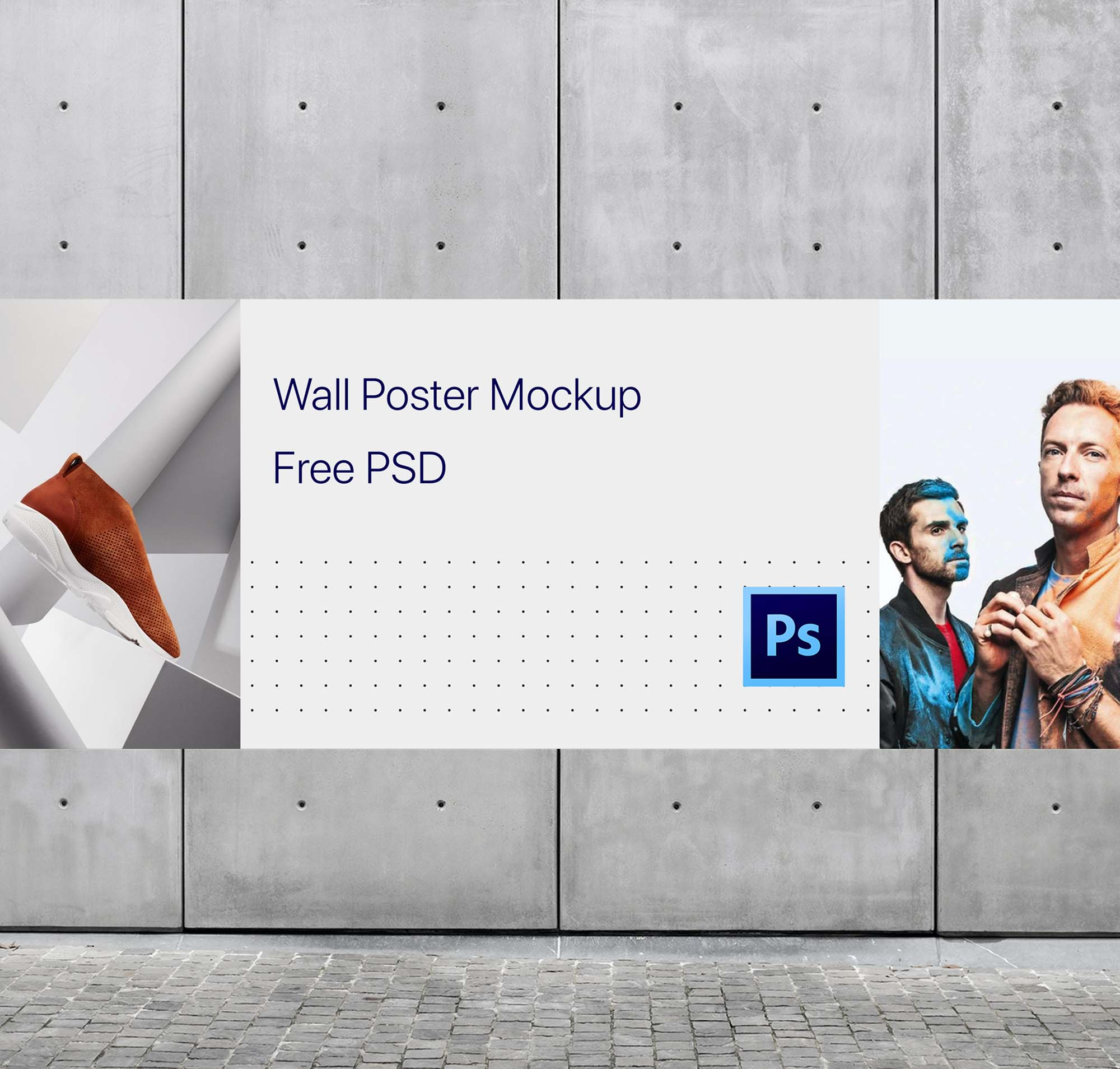 Wide Wall Poster Mockup