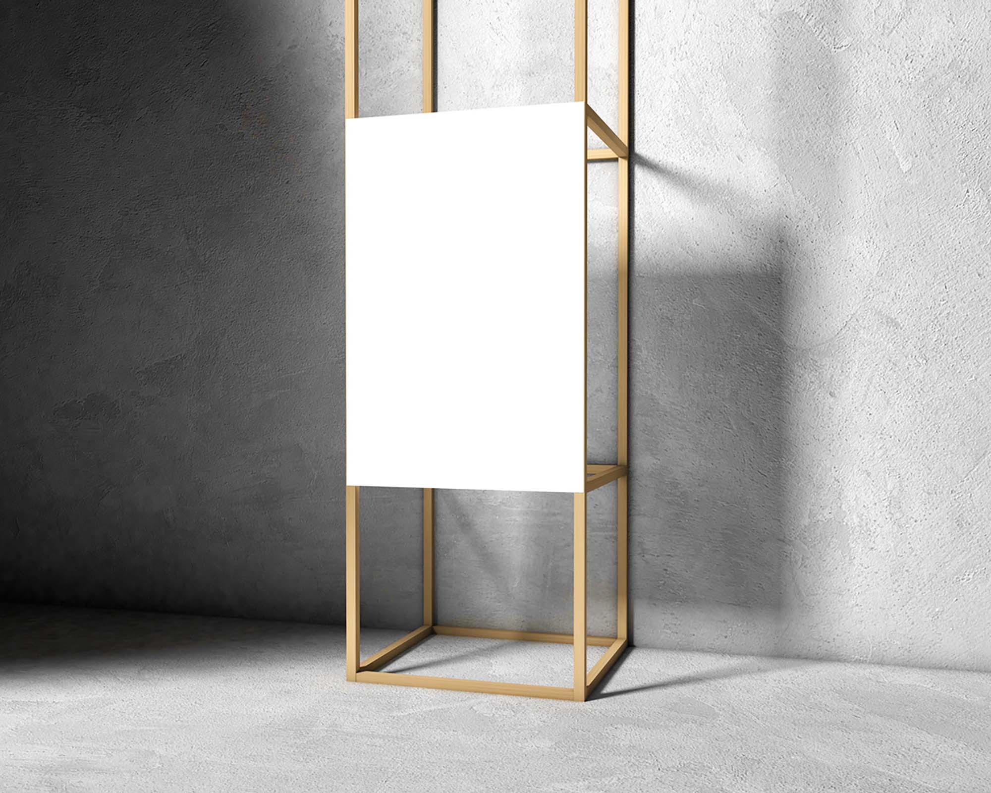 Wooden Frame Poster Mockup 2
