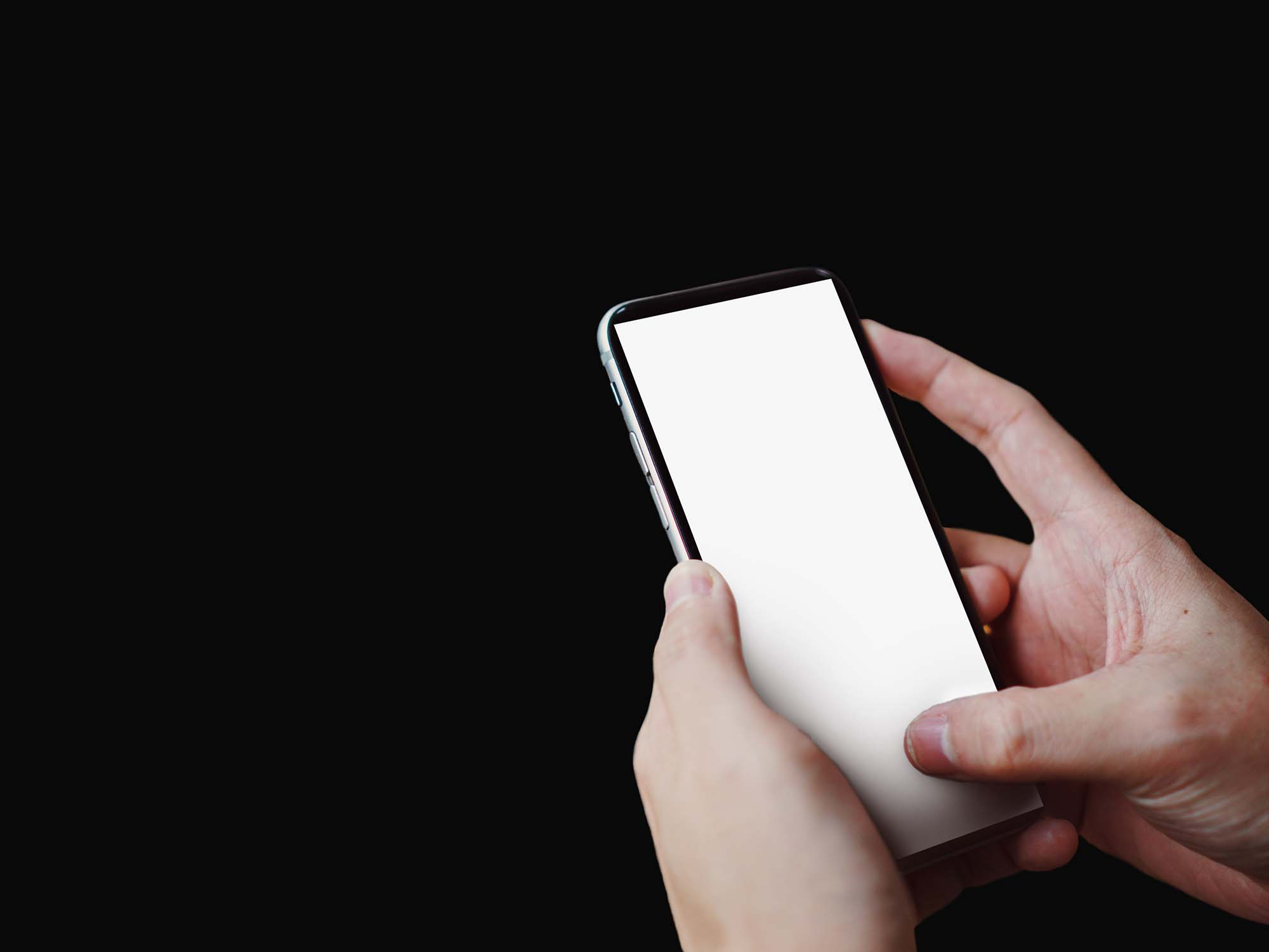 iPhone X Held by a Pair of Hands Mockup 2