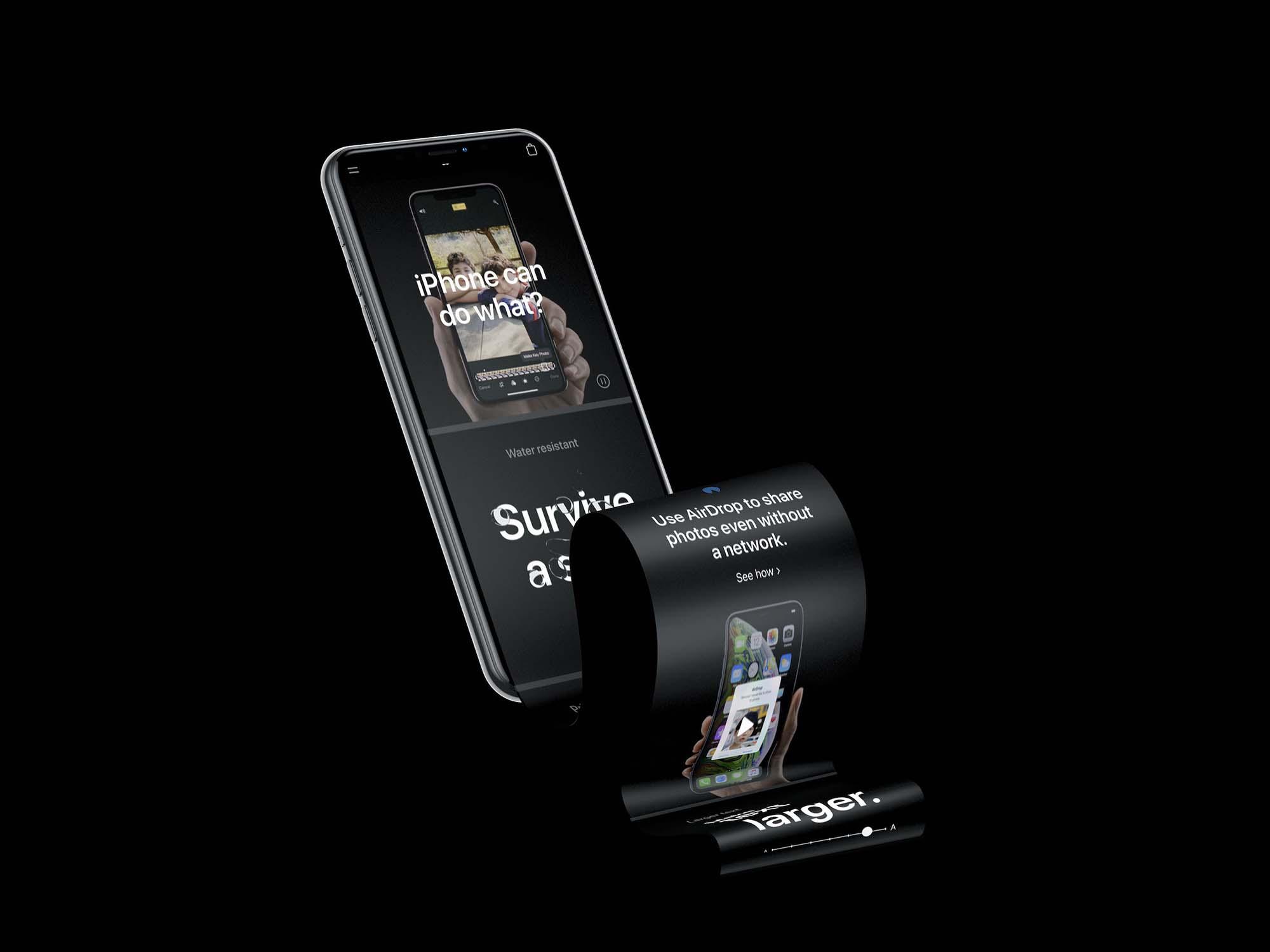 iPhone XS Long Scroll Mockup