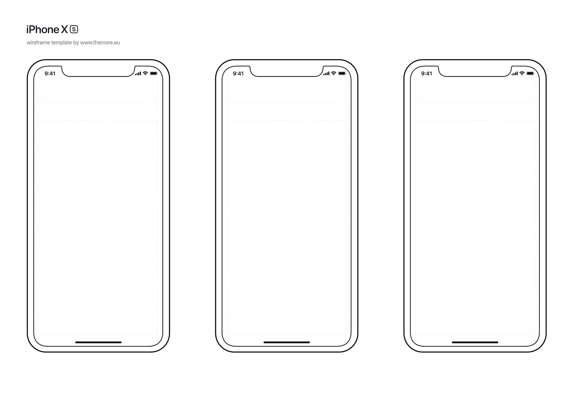 iPhone XS Wireframe Template 2