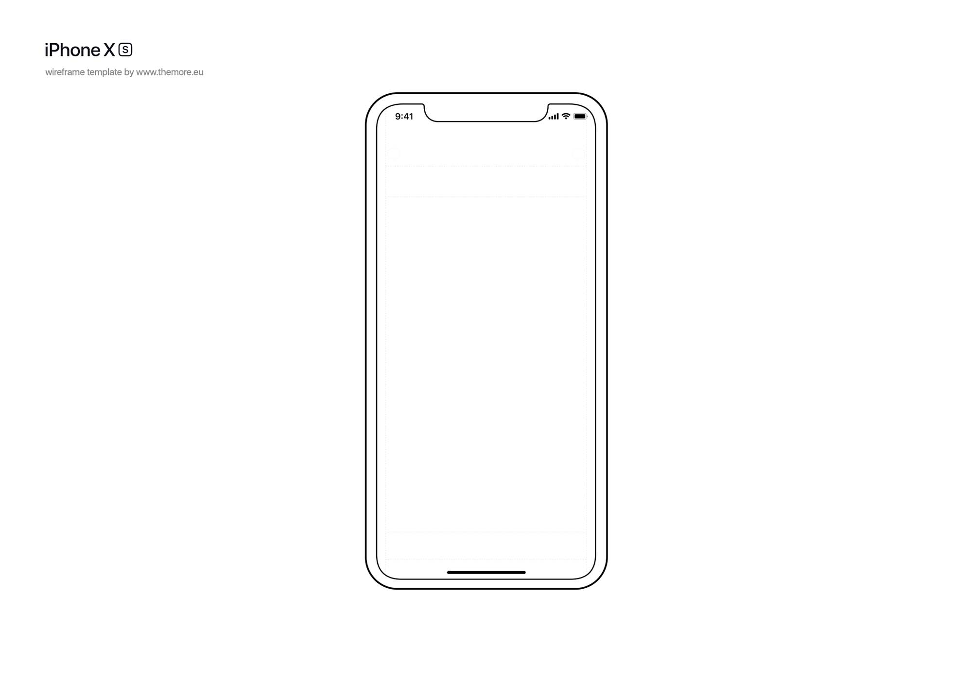 iPhone XS Wireframe Template 3